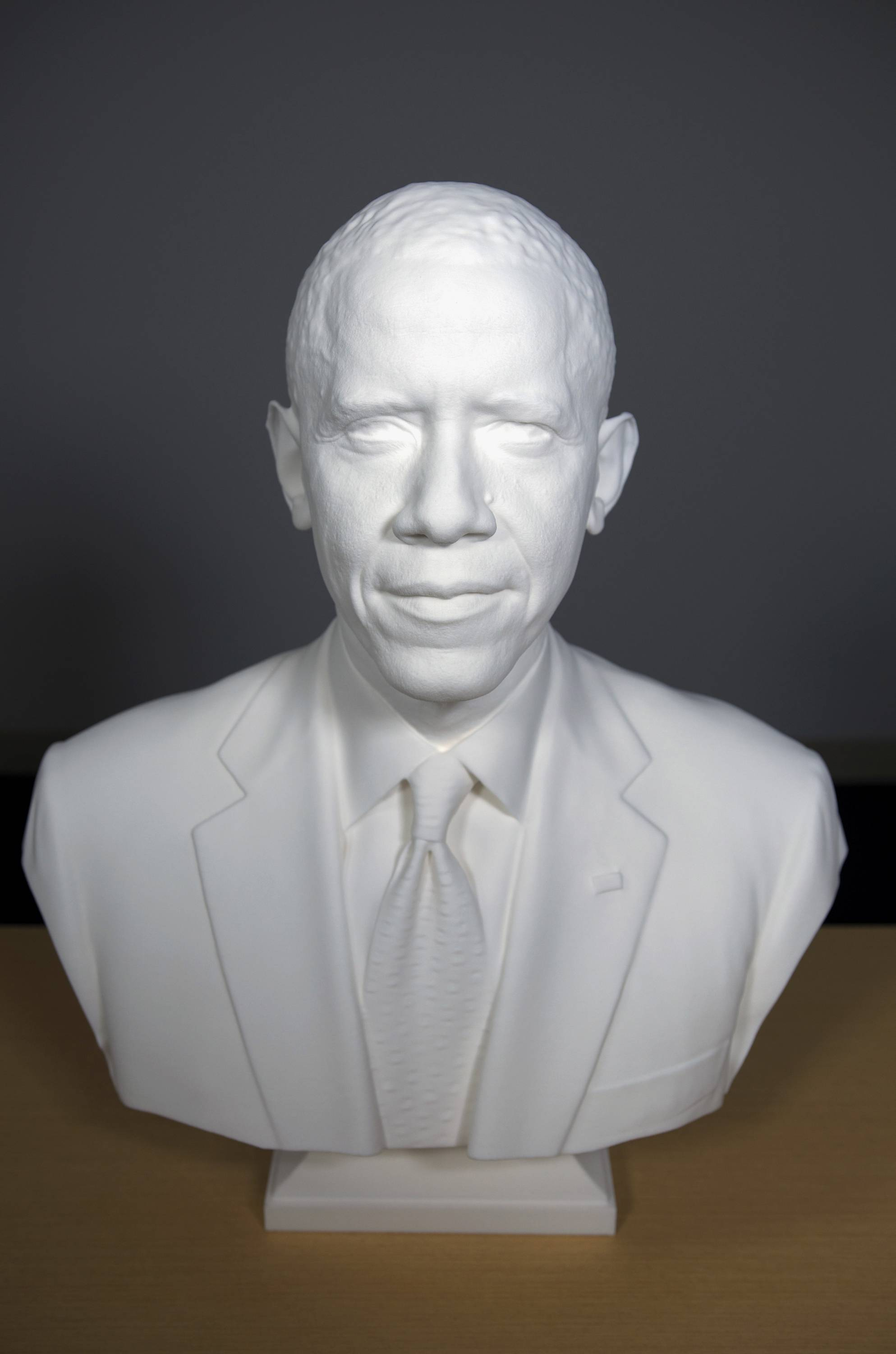 The first presidential portrait created from 3-D scan data.