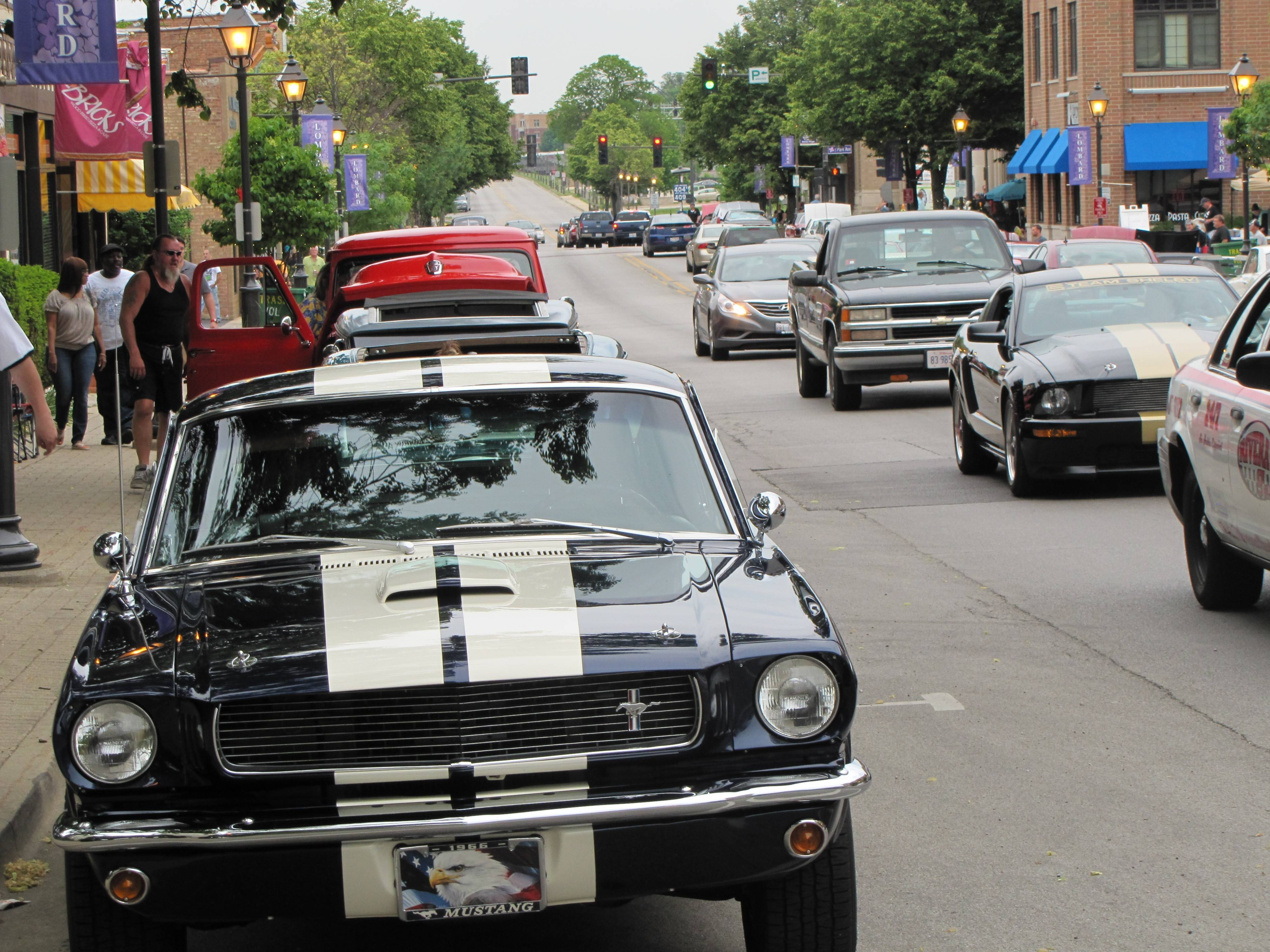 Vintage cars are on display from 6 to 10 p.m. every Saturday ­-- except July 5 -- through Aug. 30 in downtown Lombard for Cruise Nights.