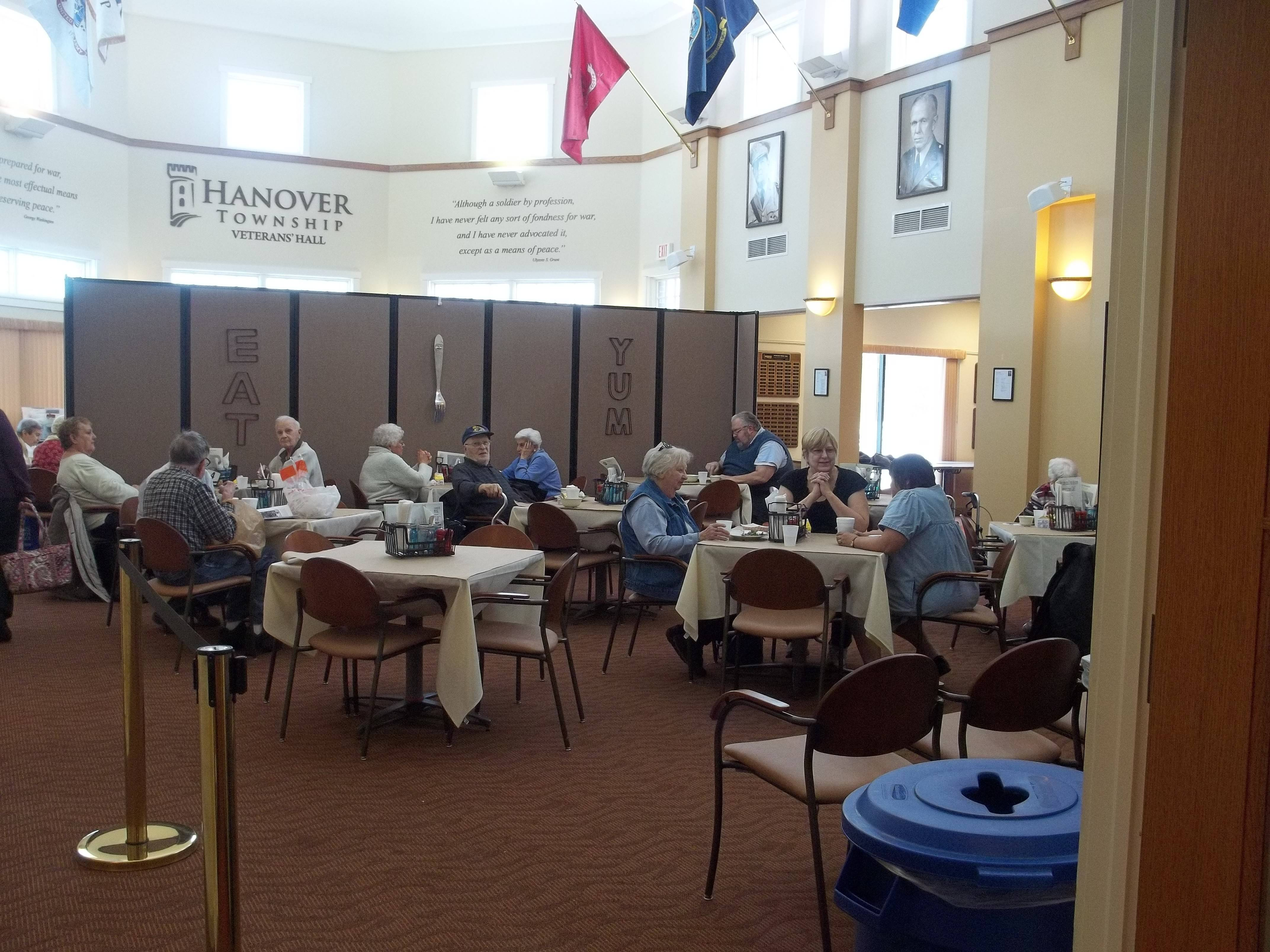 The Stars-n-Stripes Cafe offers fresh, nutritious lunches at the Hanover Township Senior Center in Bartlett.