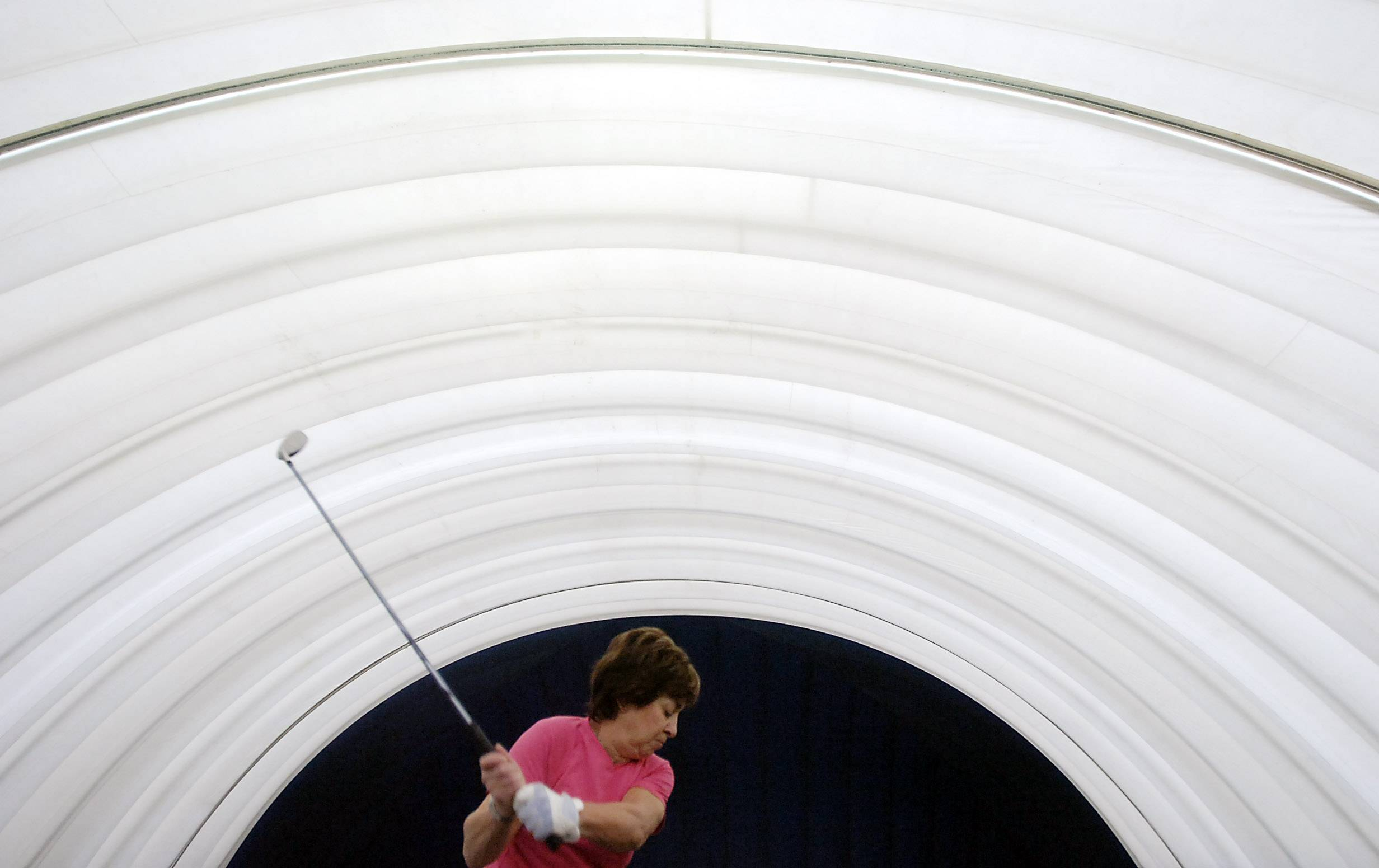 MARK WELSH/mwelsh@dailyherald.com, 2009 The Buffalo Grove Park District is planning major renovations for its 15-year-old golf dome, including a new heating system and possible new exterior. Officials say the work is likely to be done in the summer or early fall, and won't disrupt normal dome operations.