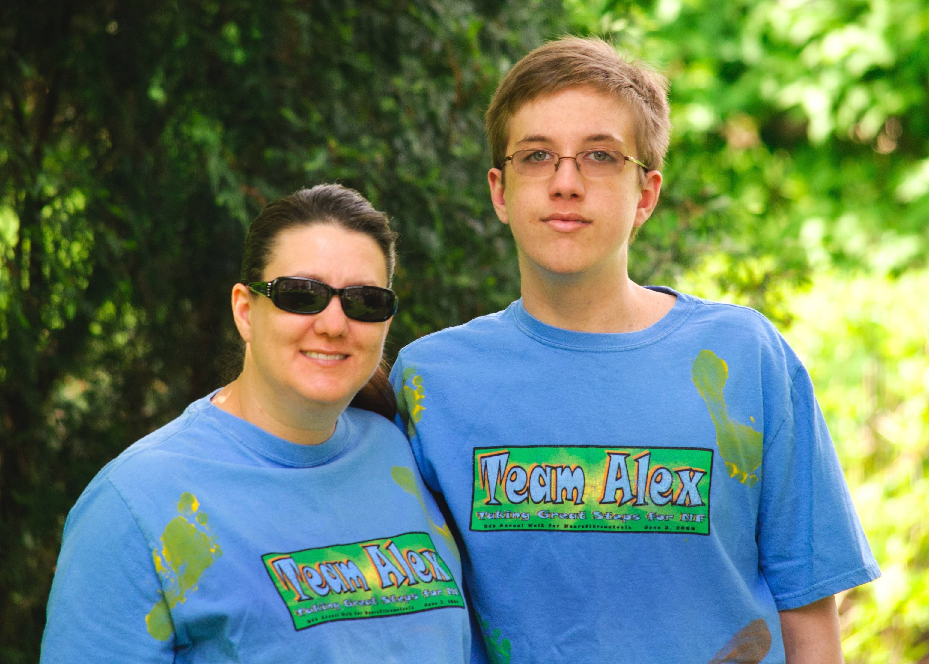 Sheri Scheidt of Wheaton will walk in Great Steps for NF to help fund research into neurofibromatosis. Her son, Alex, 16, has the disorder.