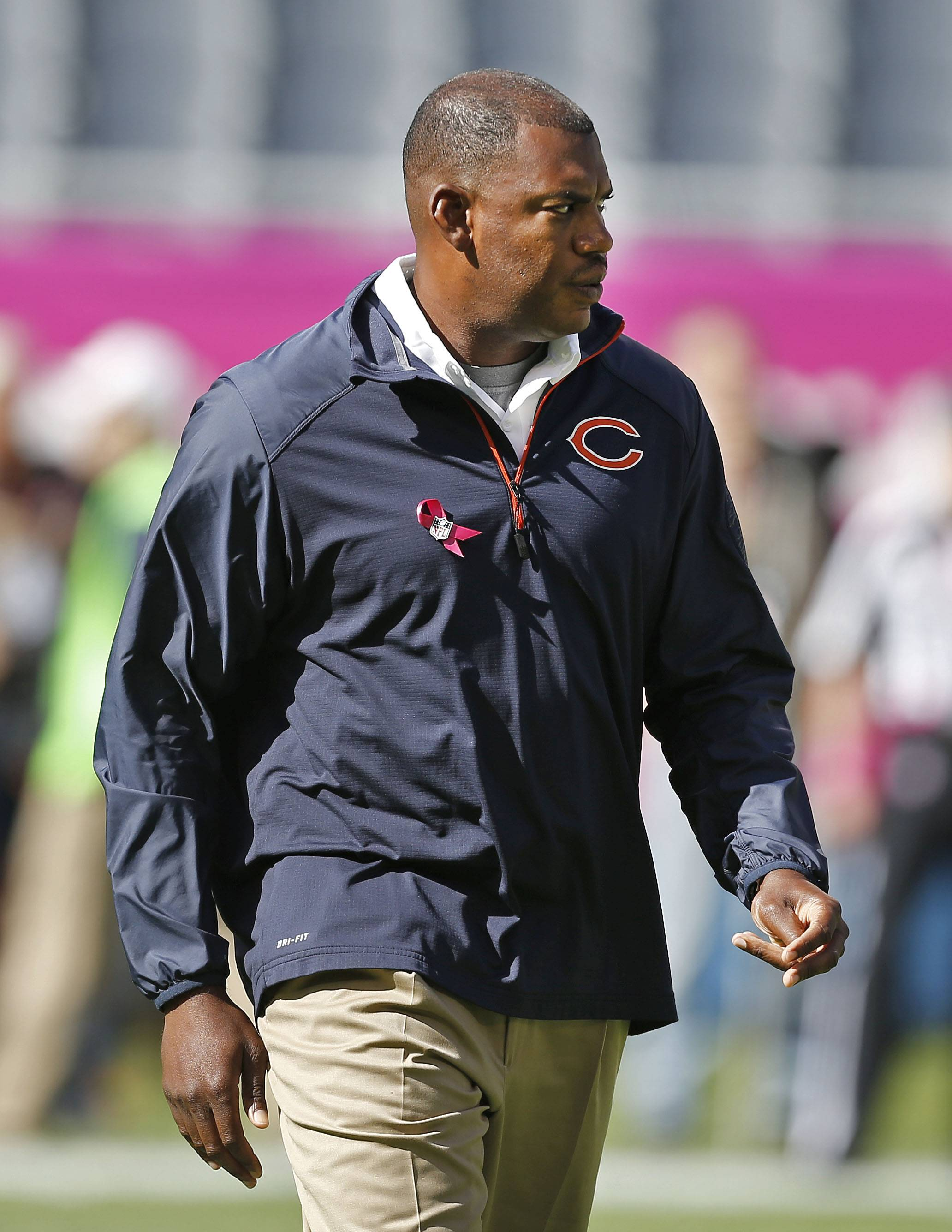 Bears defensive coordinator Mel Tucker said he thinks the line play this season will get a big boost from the addition of experienced veterans.