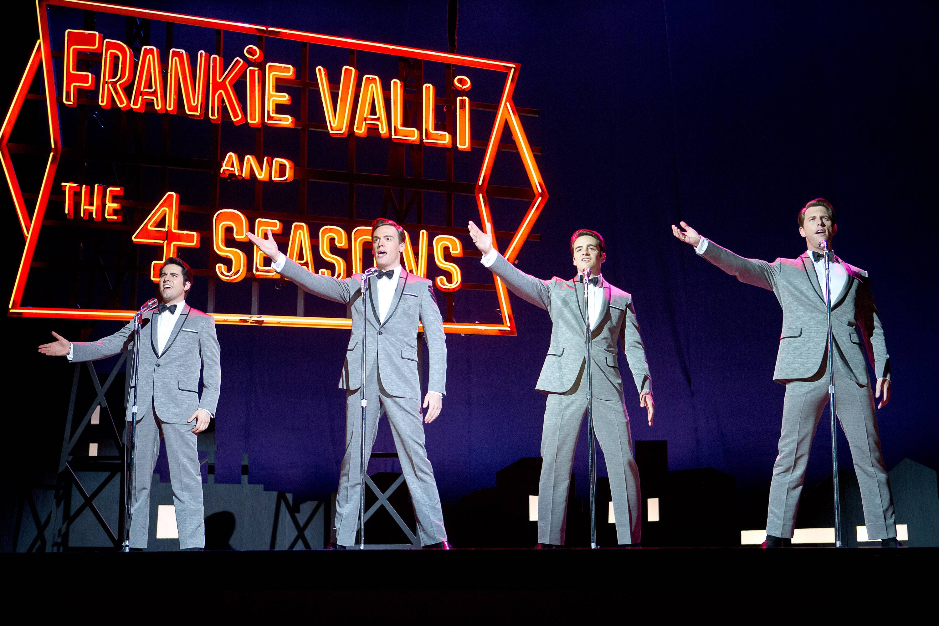 "Clint Eastwood's disappointing translation of the Broadway musical ""Jersey Boys"" stars John Lloyd Young as Frankie Valli, Erich Bergen as Bob Gaudio, Vincent Piazza as Tommy DeVito and Michael Lomenda as Nick Massi."