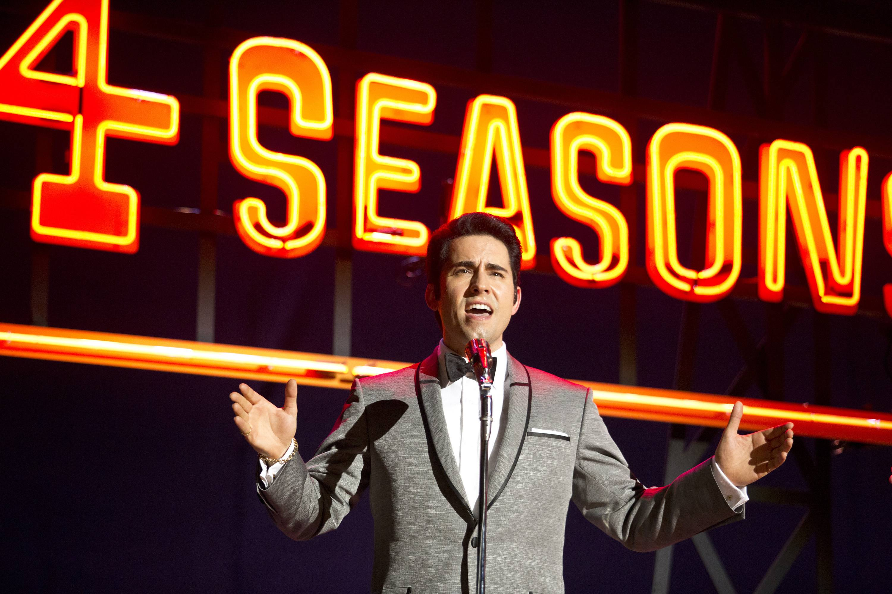 "Frankie Valli (John Lloyd Young) cuts loose in Clint Eastwood's musical ""Jersey Boys."""