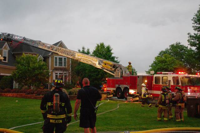 A lightning strike triggered a house fire Wednesday night that officials said caused more than $500,000 damage and left the building uninhabitable.
