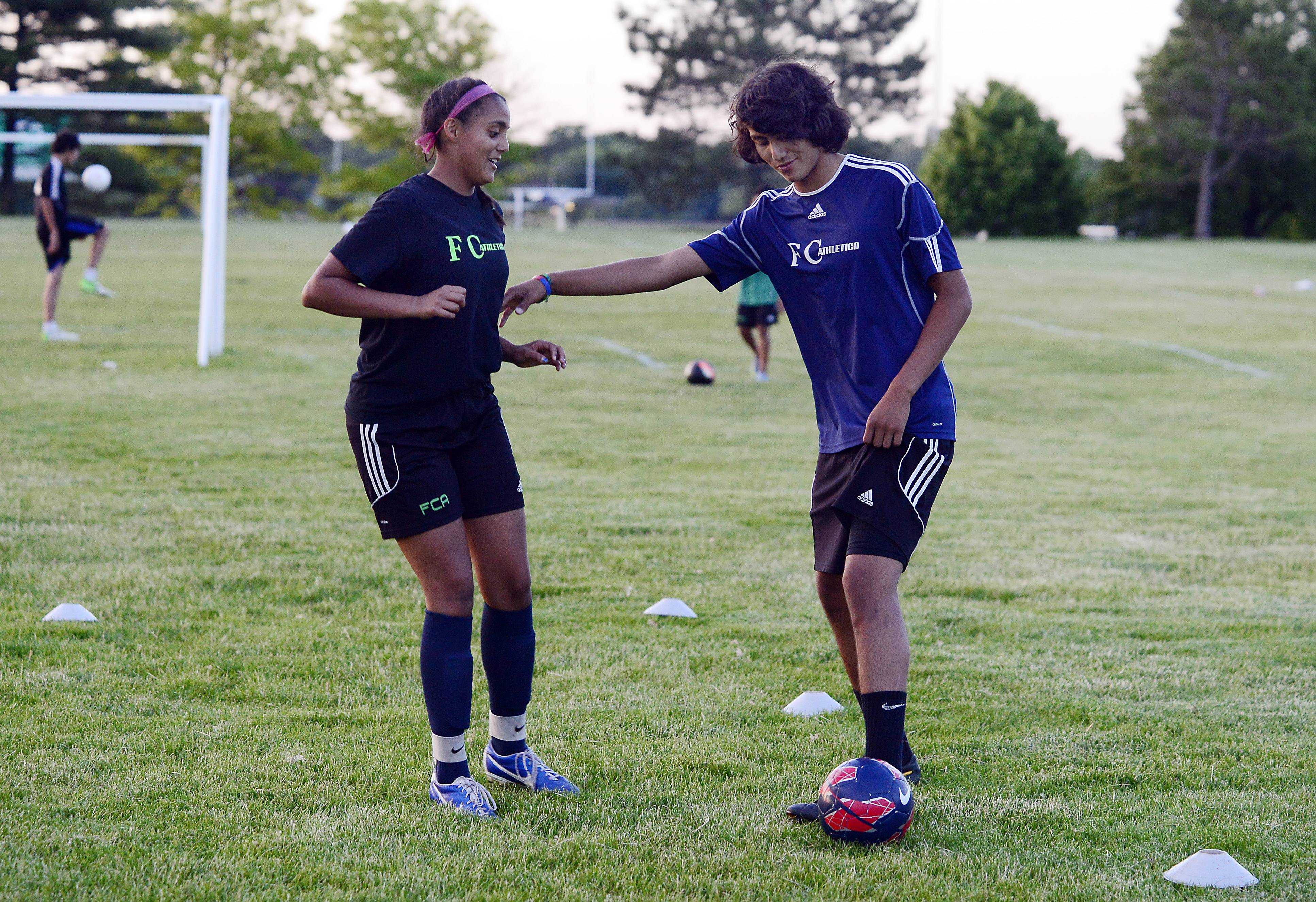 Sibling rivalry is one of the reasons Luis, 15, and Alondra Arreola, 14, of Wheeling have developed into top soccer players. Both have their sights set on professional soccer careers and hope to one day represent the U.S. or Mexico in a World Cup.