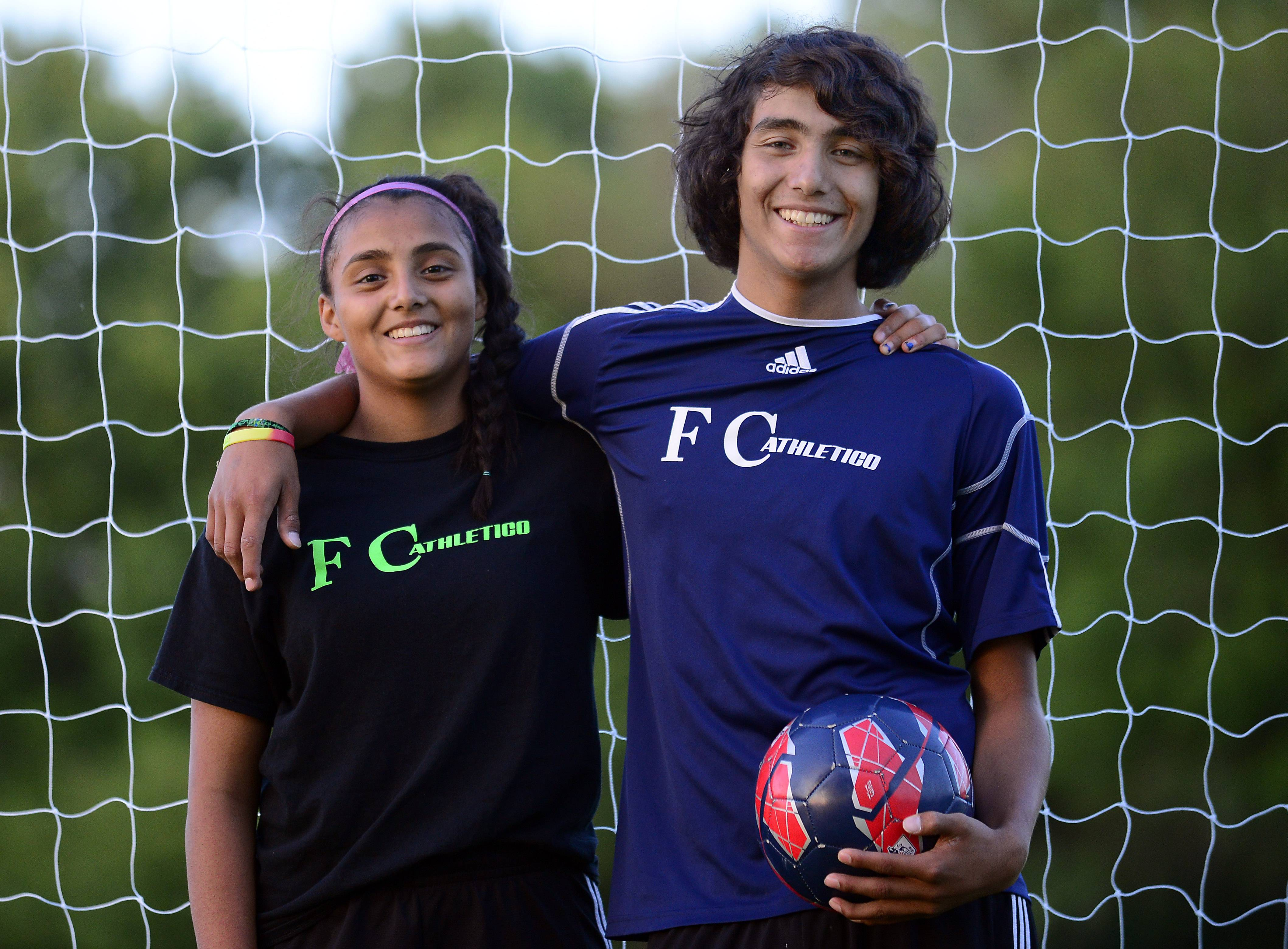 Wheeling siblings Alondra, 14, and Luis, 15, Arreola, are soccer phenoms who hope one day to play in the World Cup. For now, they're fielding offers from some top-level prep programs and, in Luis' case, hearing interest from professional soccer clubs abroad.