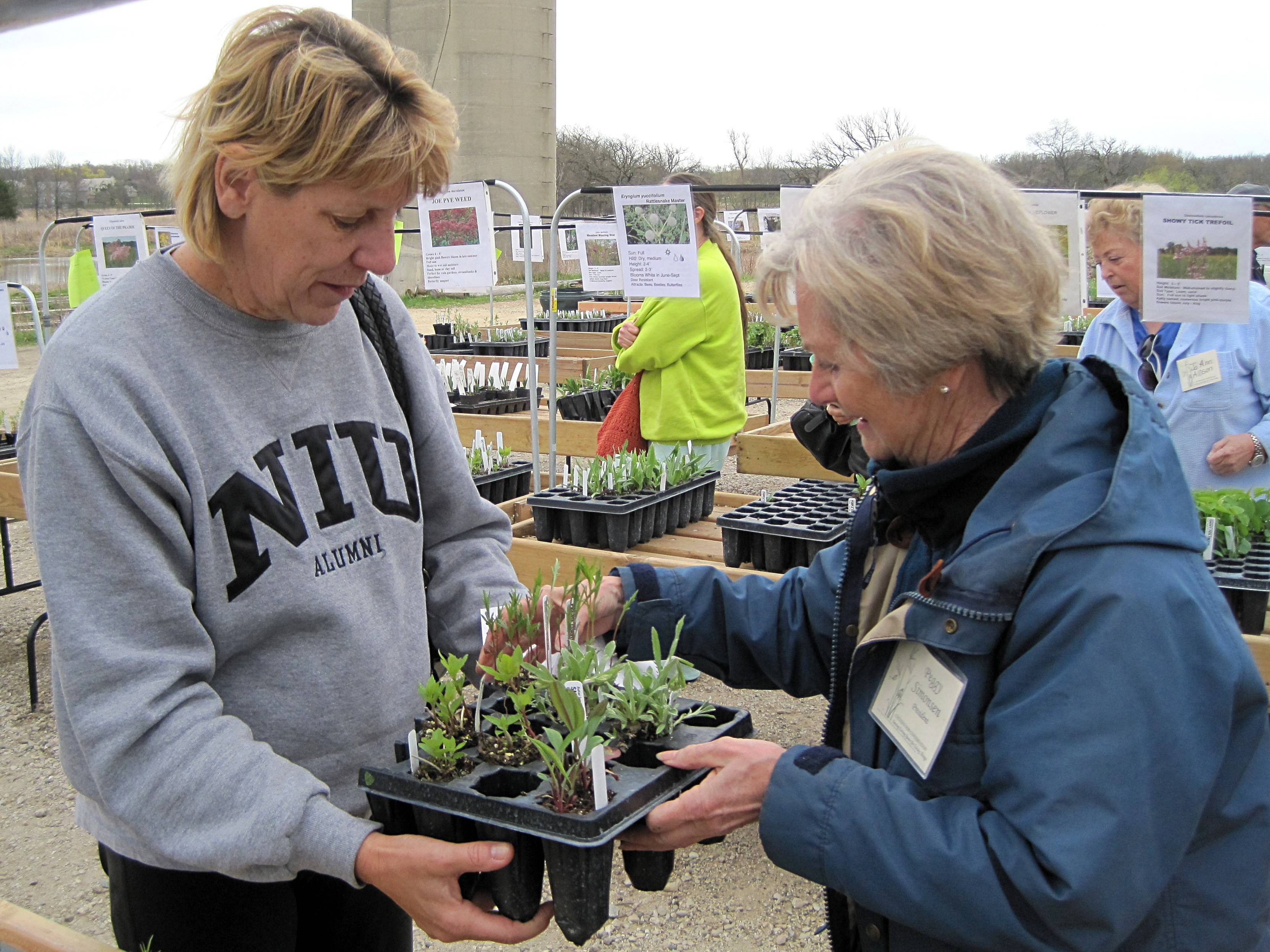 An important part of every Citizens for Conservation native plant sale is the advice shared with shoppers by the many CFC volunteers who are themselves native plant experts and enthusiasts.
