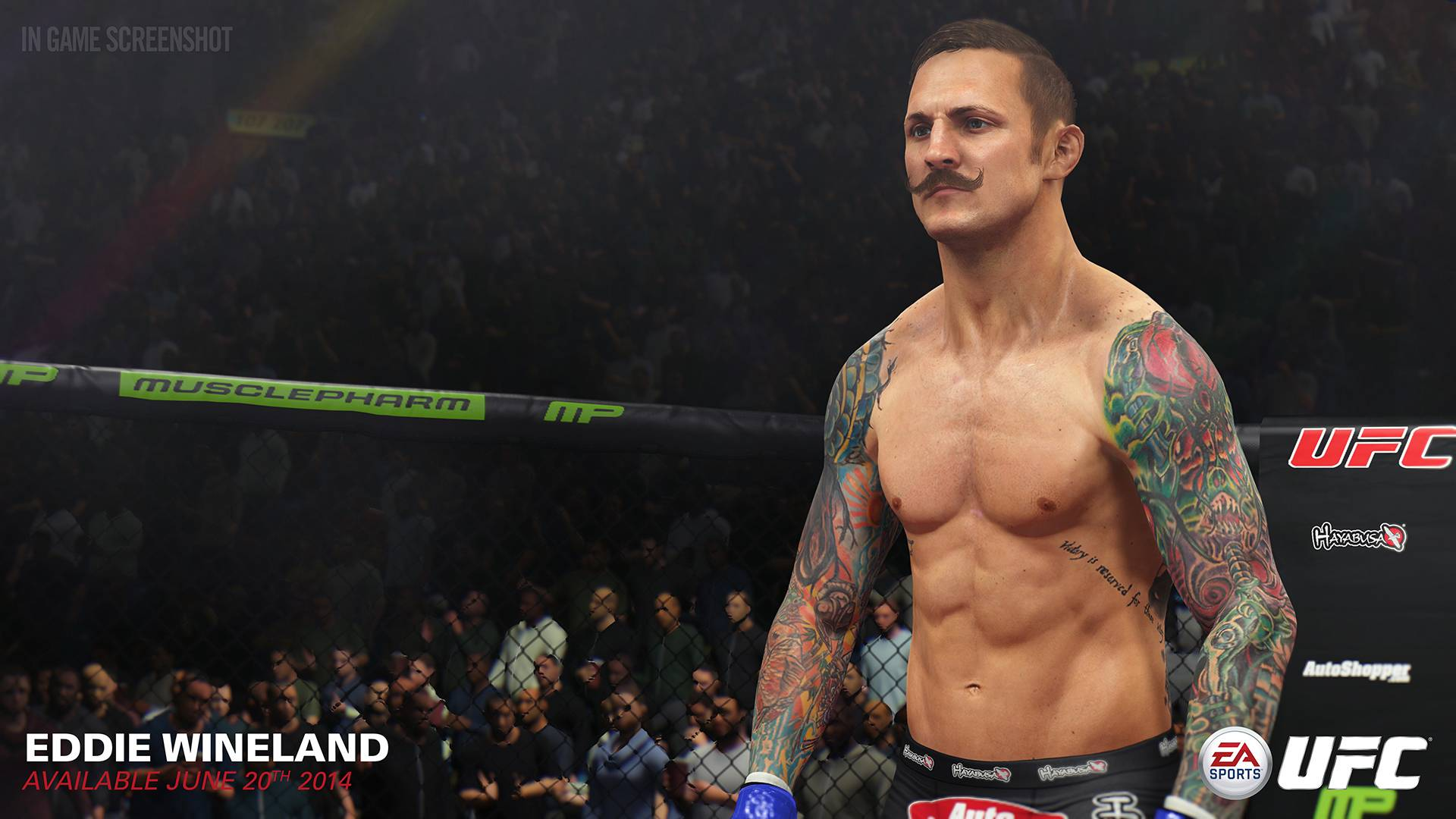 "Eddie Wineland gets ready to spar in ""EA Sports UFC."""