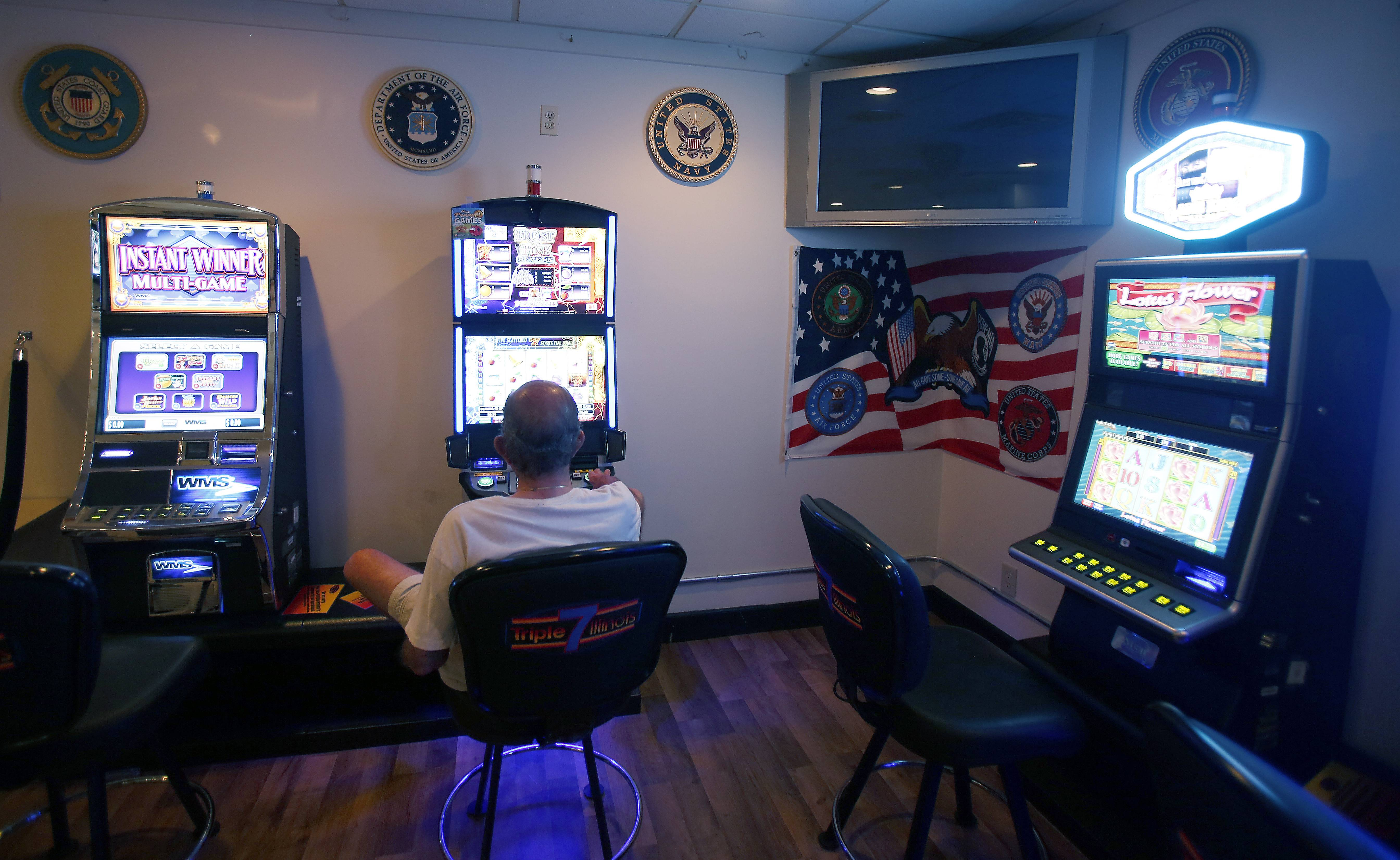 Faced with declining membership, American Legion halls, such as this one in Huntley, are betting on their survival through installation of video gambling machines.