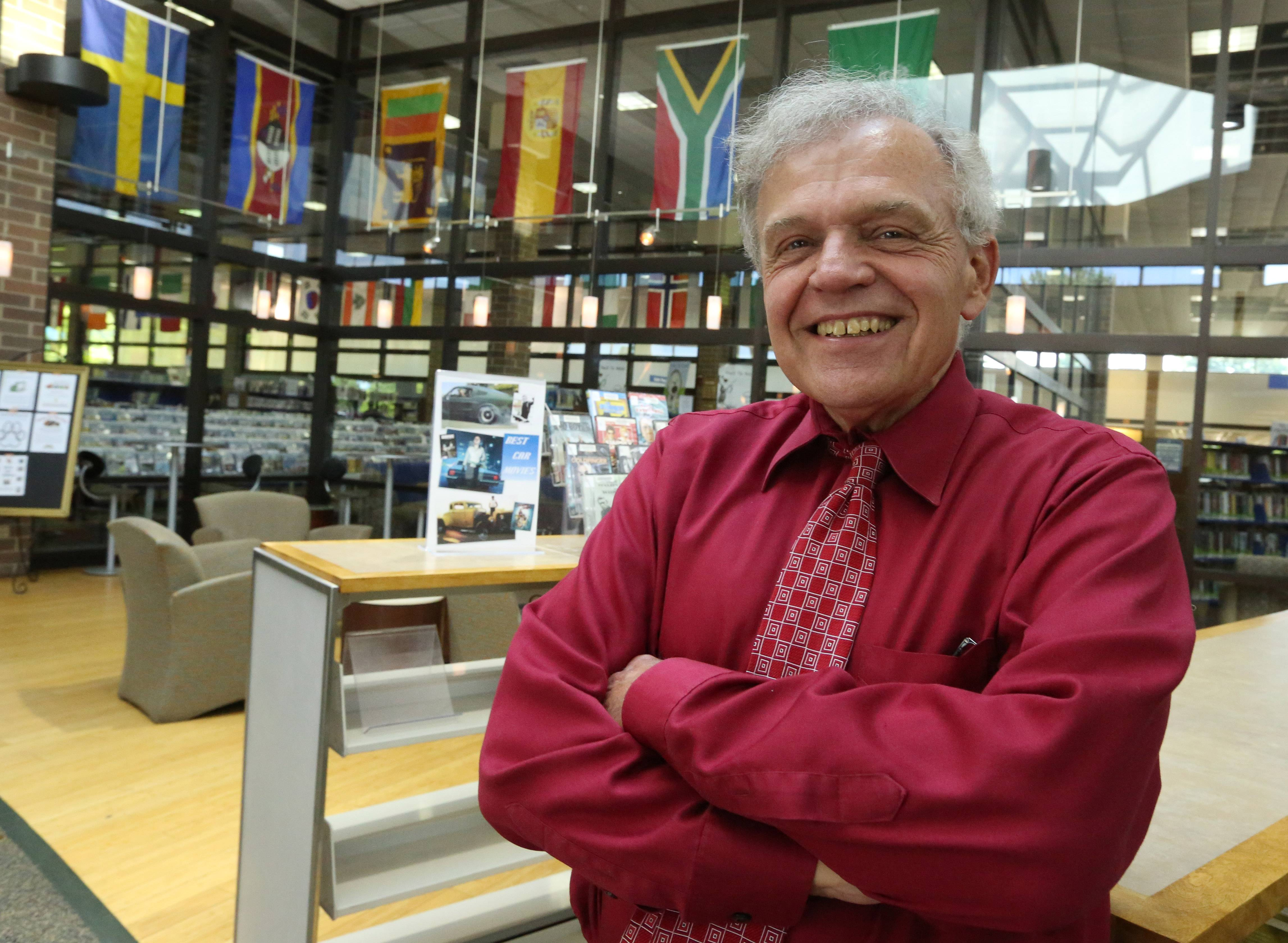 Elk Grove Public Library Director Lee Maternowski retires today after nearly four decades of employment at the library. He's been library director since 1997.