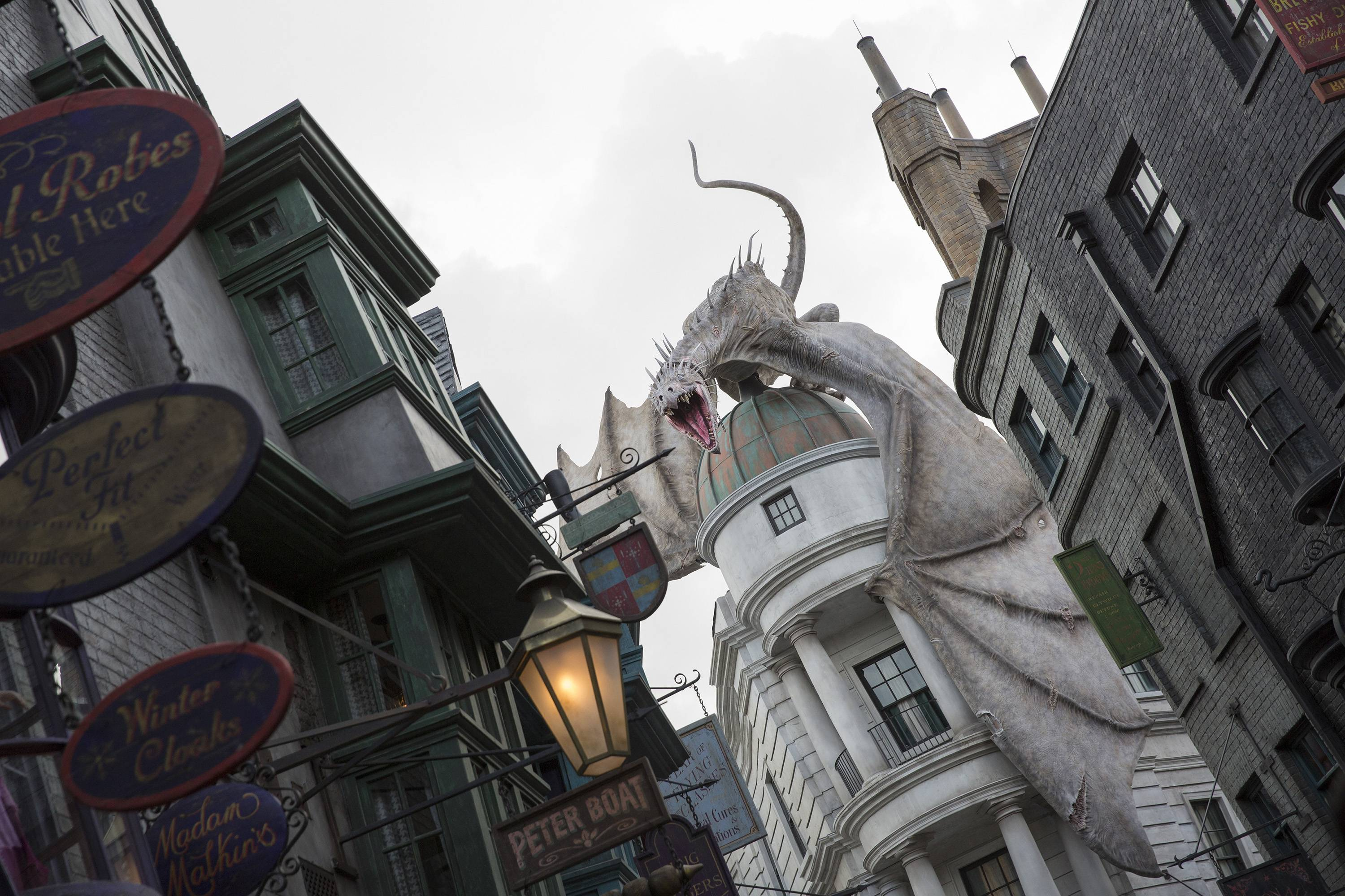 The new Wizarding World of Harry Potter -- Diagon Alley at Universal Orlando features shops, dining experiences and a next generation thrill ride. It will officially open on July 8.