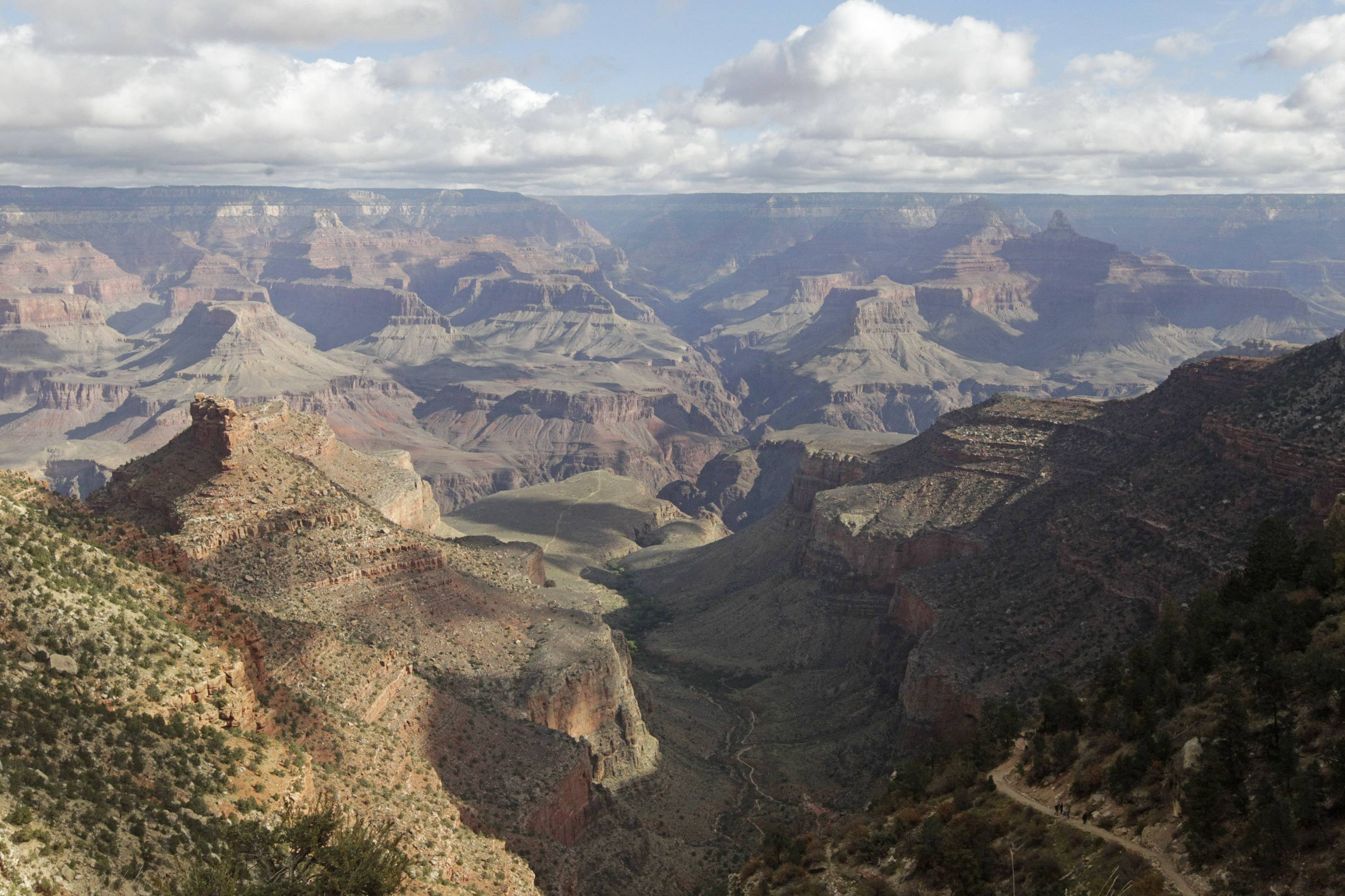 The South Rim of the Grand Canyon National Park in Arizona. The National Park Service is taking steps to ban drones from 84 million acres of public lands and waterways, saying the unmanned aircraft annoy visitors, harass wildlife and threaten safety.