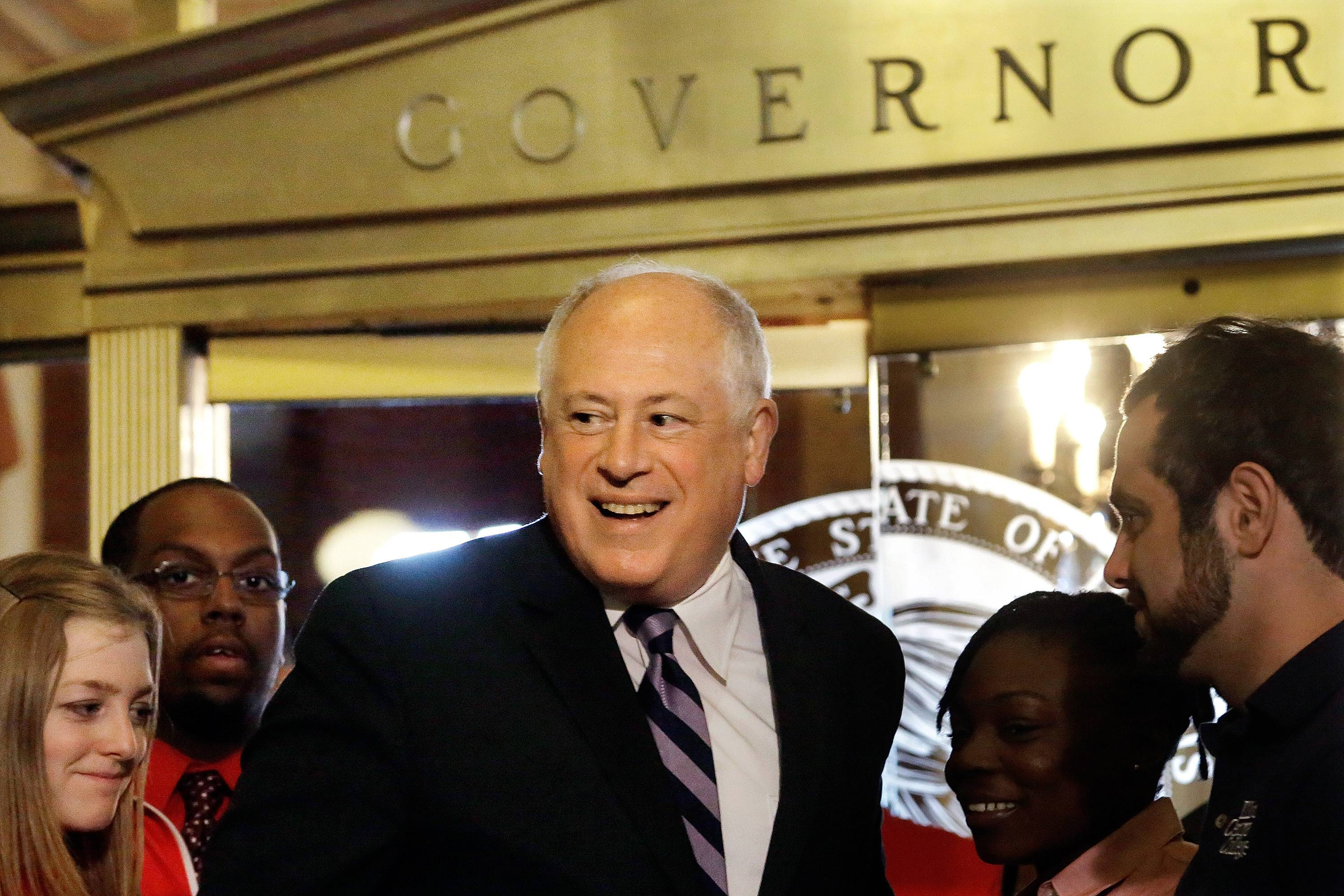 Gov. Pat Quinn is running for re-election against Republican Bruce Rauner.