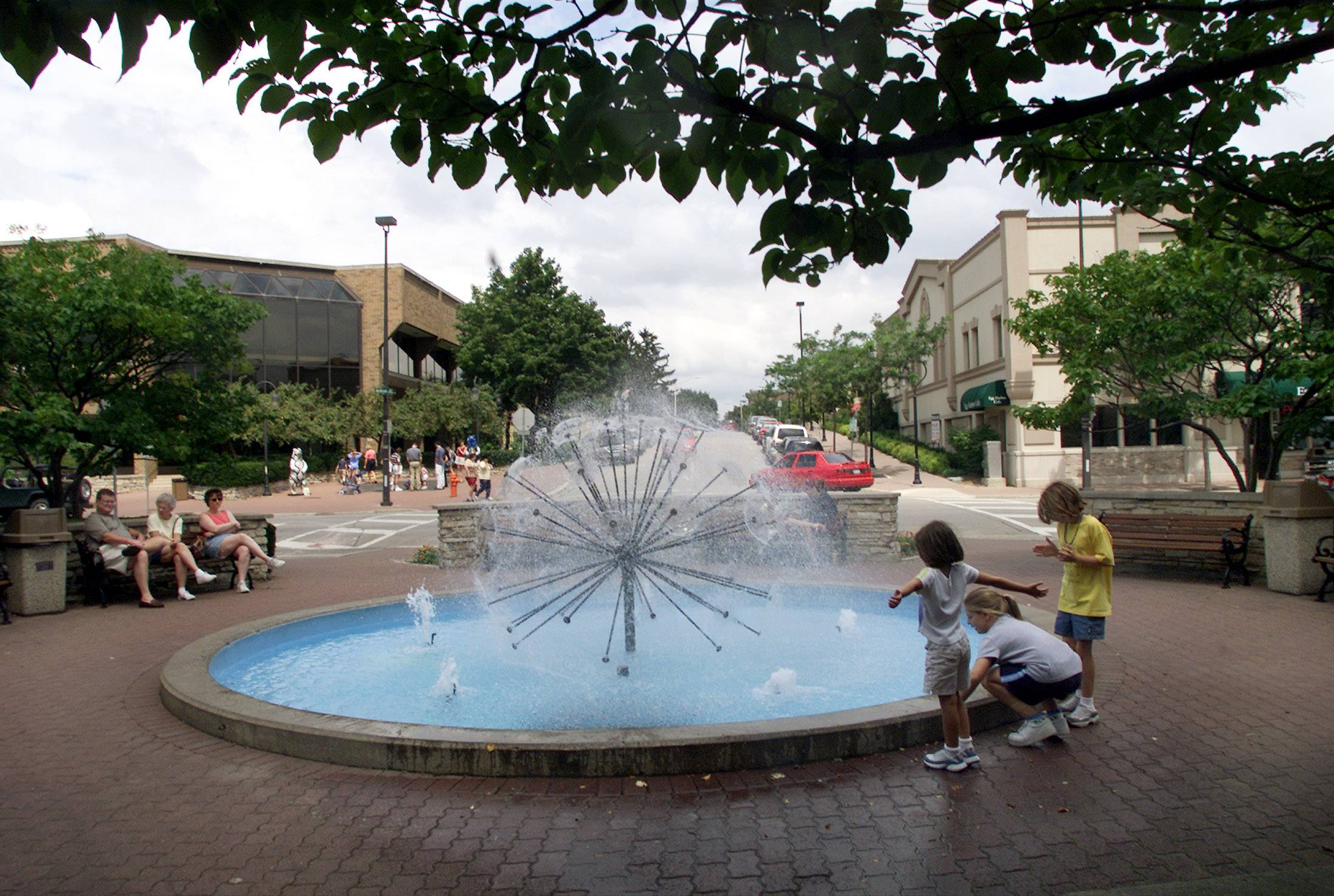 Naperville has a dandelion fountain on its Riverwalk. Does that make the town snobby?