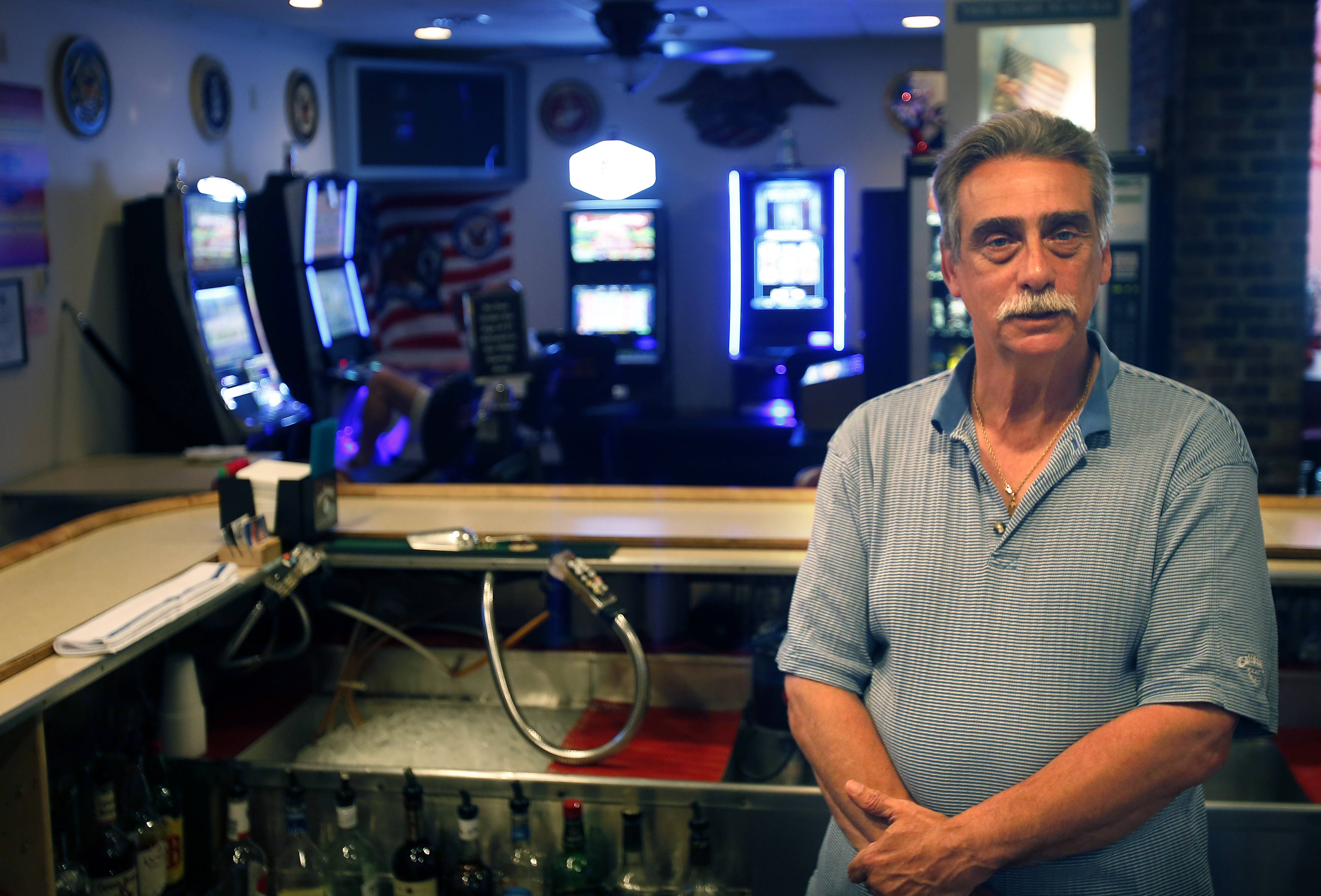 "Huntley Legionnaire Mike Stojak says video gambling is ""one thing that is going to help us keep our doors open."""