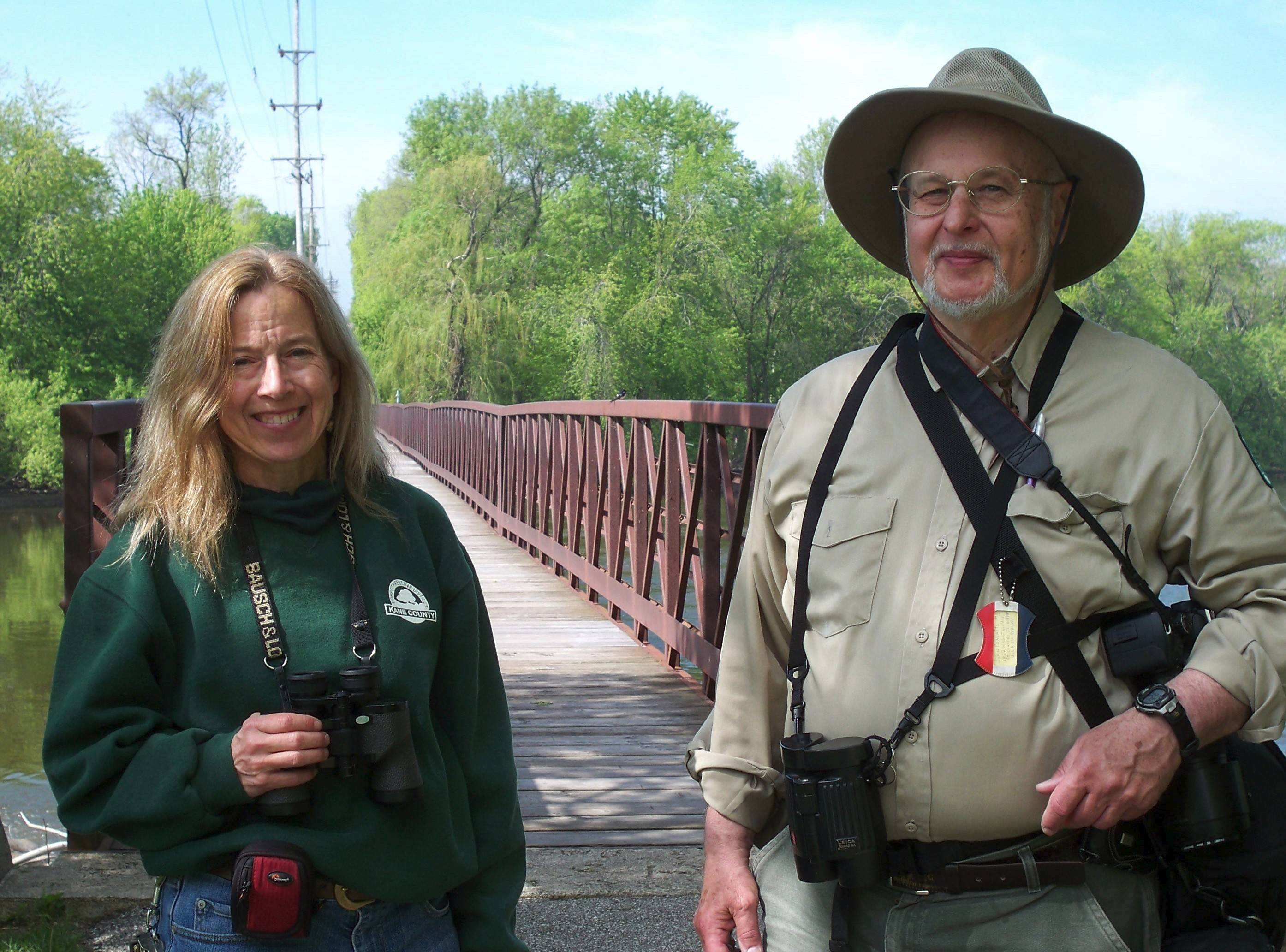 Naturalists Valerie Blaine, left, and Jack Pomatto were friends as well as colleagues.