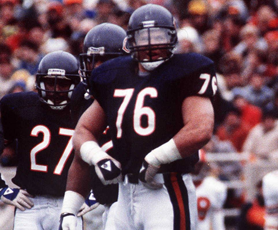 Defensive tackle Steve McMichael, 191 games, is third among most games played in Bears history