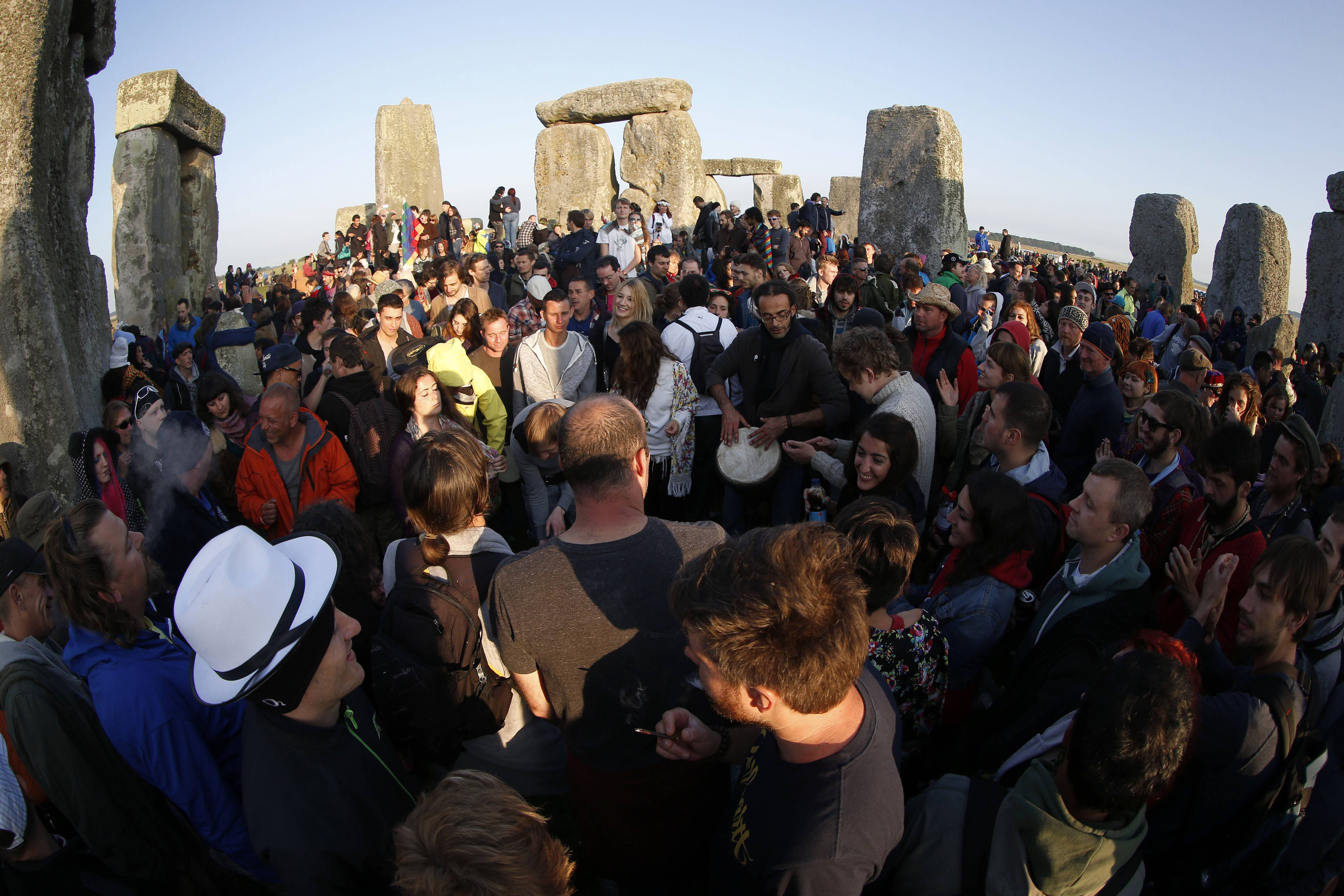 Thousands of revelers gathered at the ancient stone circle Stonehenge, near Salisbury, England, to celebrate the summer solstice, the longest day of the year, Saturday, June 21.