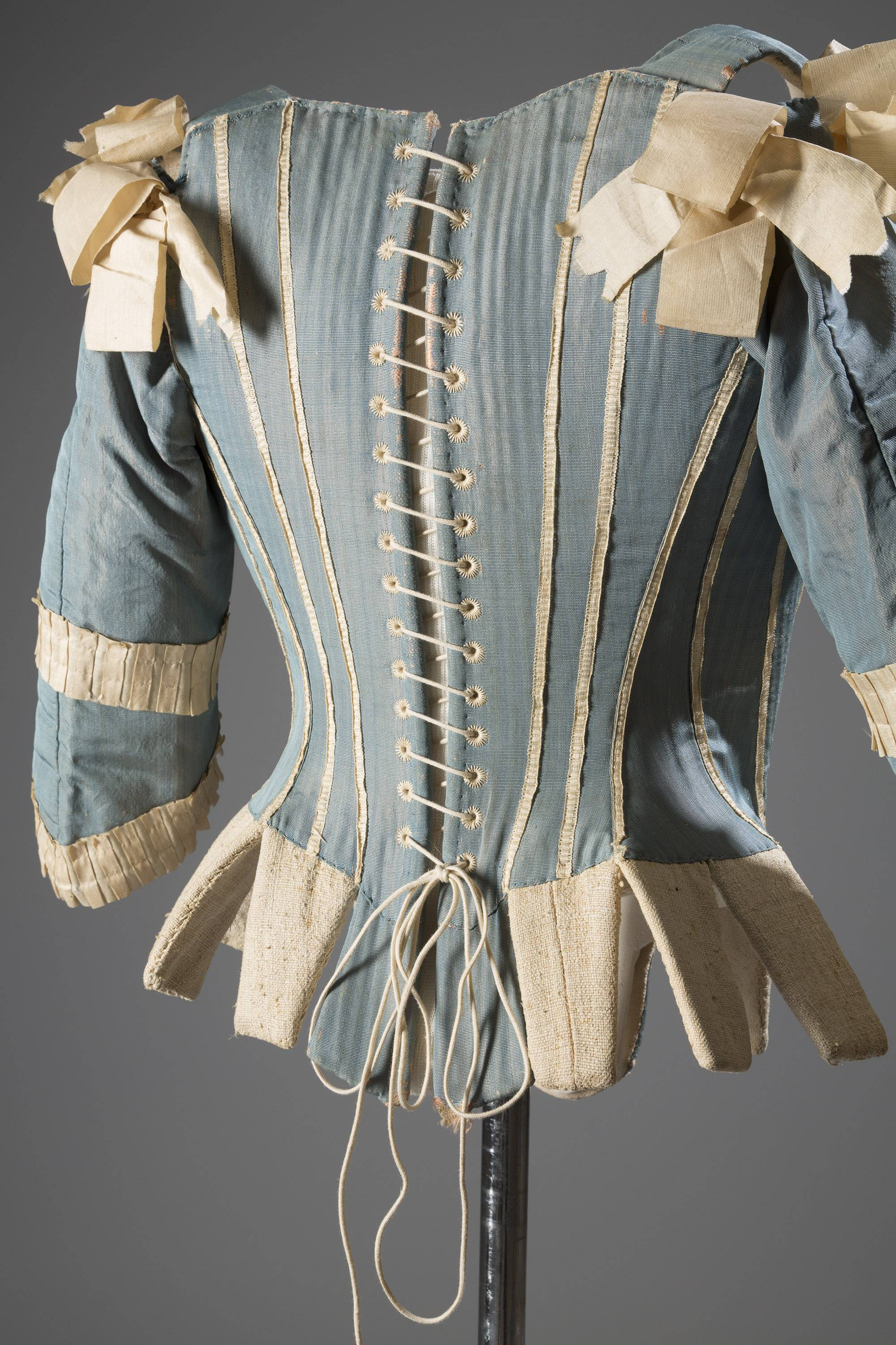 "A 1770s European corset in silk. In about 70 pieces, ""Exposed: A History of Lingerie"" -- at the Museum at the Fashion Institute of Technology -- touches on the mechanics, marketing and cultural touchstones that not only shape and adorn but helped define culture around the globe."
