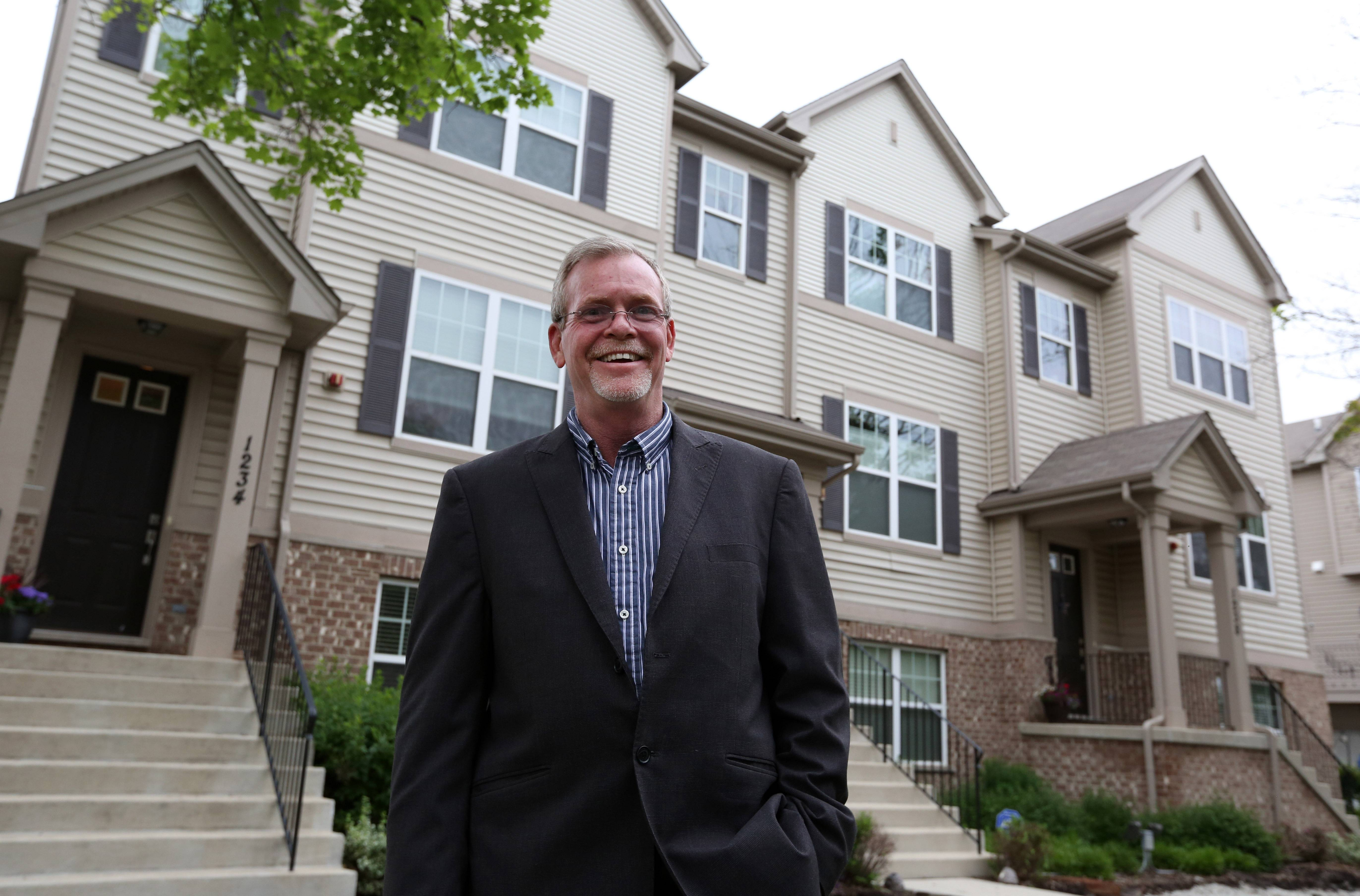 Bill McPartlin has purchased fixer-uppers in the past, but he recently bought a move-in ready townhouse in Des Plaines from Lexington Homes.