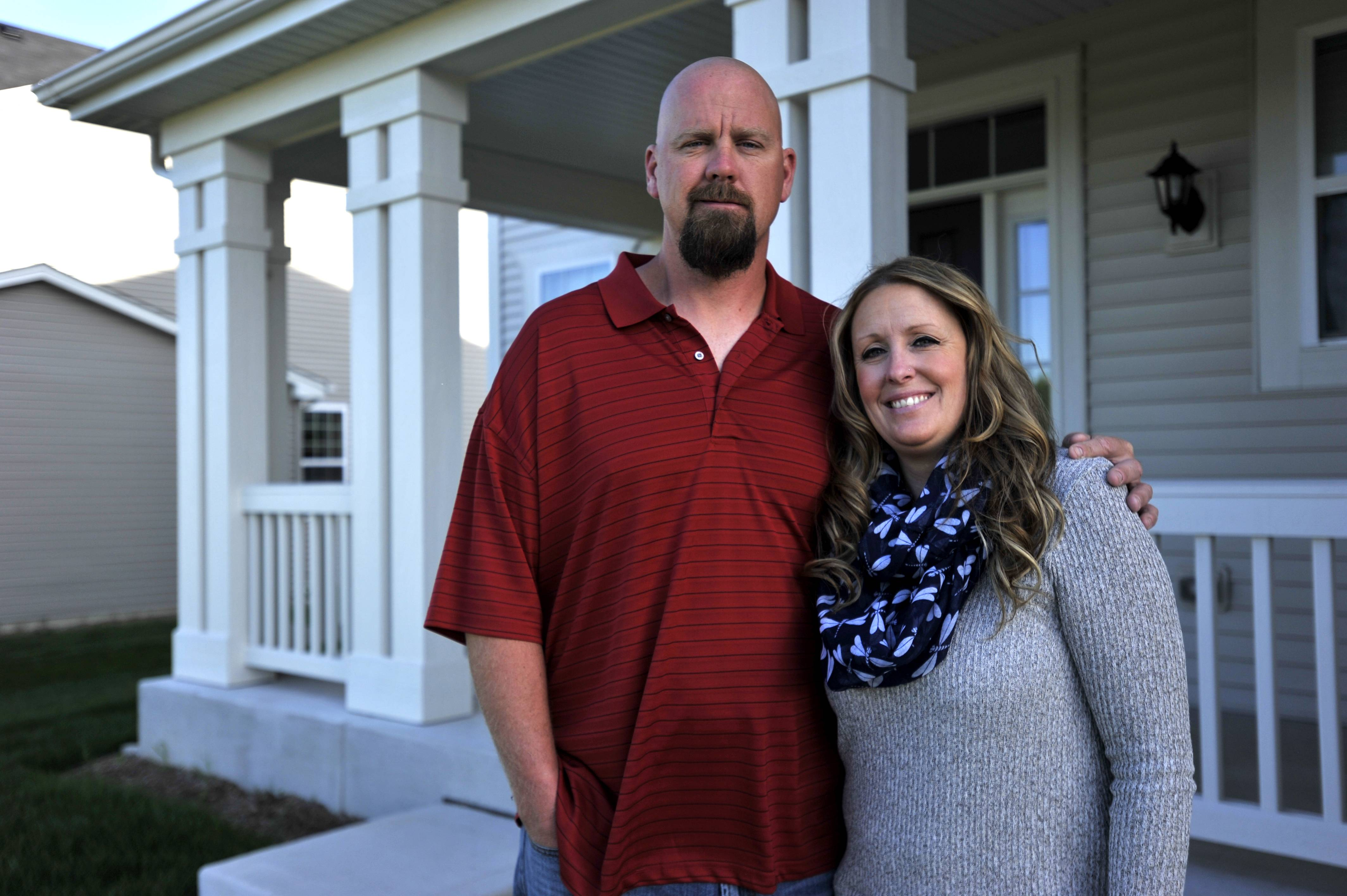 William and Jessica Roche bought their new home in Pingree Grove at the end of April, around the time of their wedding. Buying a move-in ready house also helped as Jessica was just completing her nursing degree.