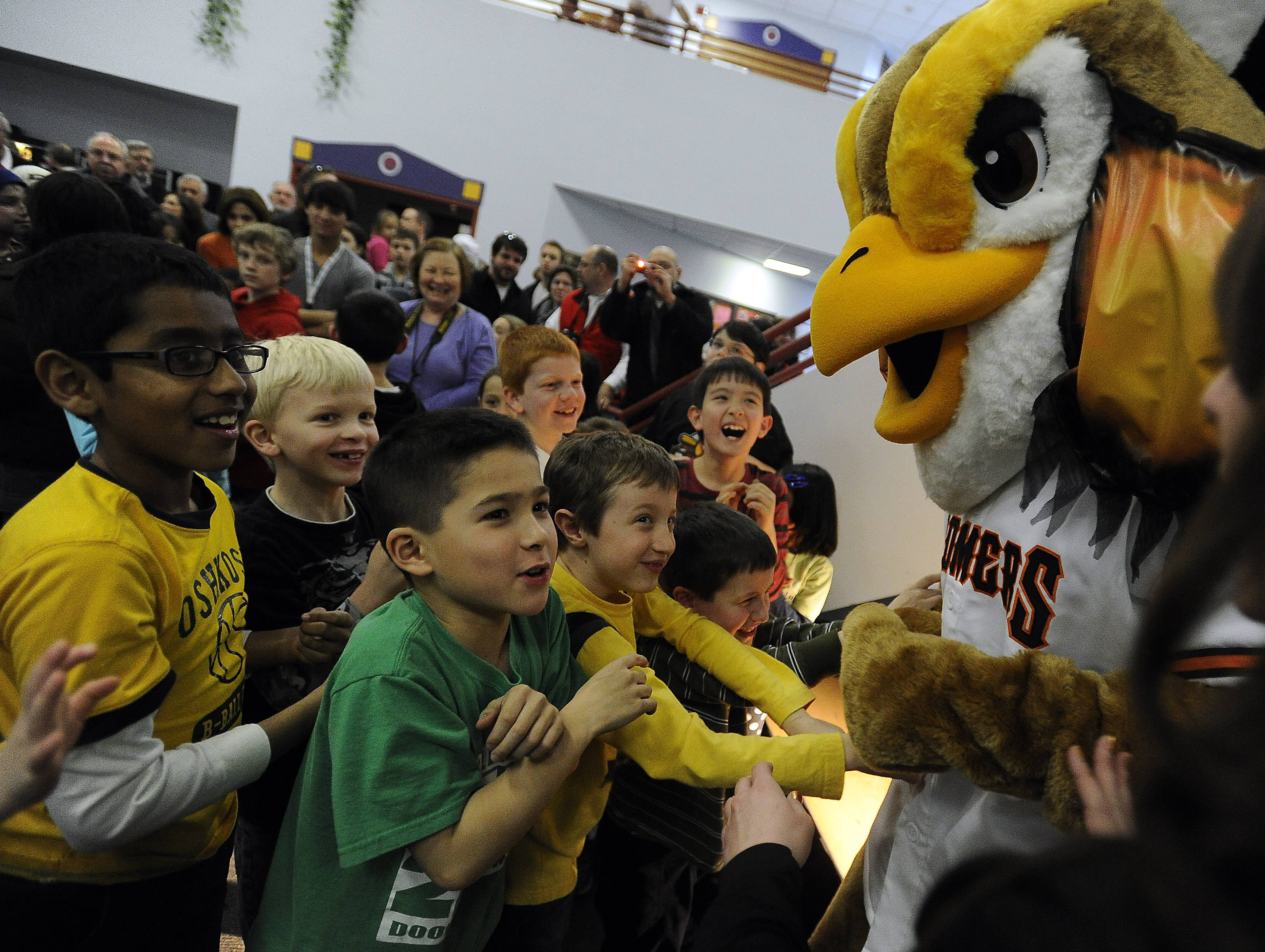 Meet Coop, the prairie chicken mascot from the Schaumburg Boomers baseballl team, pictured,  along with a number of other Chicago area mascots at the Character Caravan event, from noon to 2 p.m. Saturday, June 21,  in Schaumburg's Woodfield Mall.