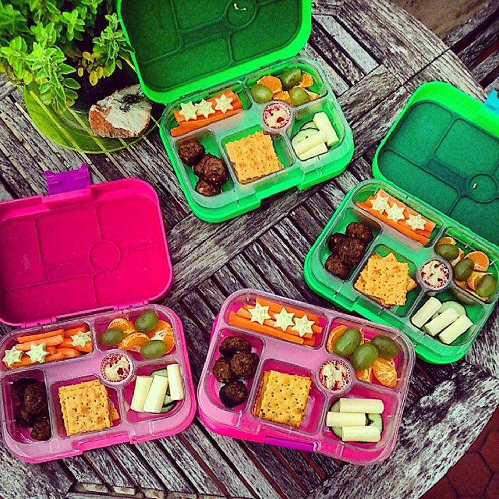 This undated photo provided by Daniela Devitt and posted in April 2014 to the Instagram account of her company, YUMBOX, shows a variety of her company's product.