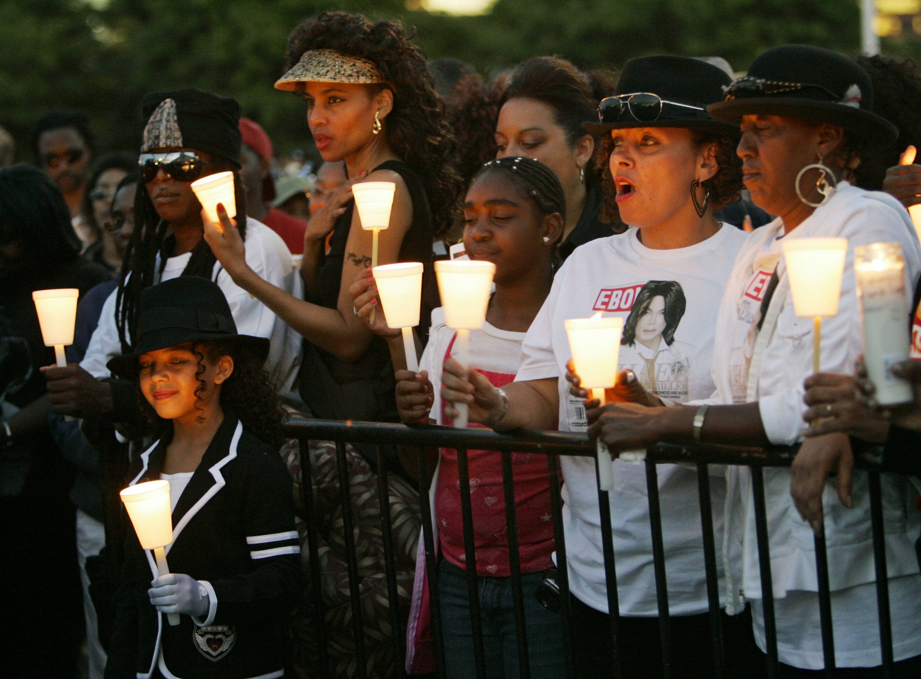 Several hundred fans held a candlelight vigil for pop star Michael Jackson in front of the Rock and Roll Hall of Fame in Cleveland. Jackson's fervent fans plan to commemorate the 5-year anniversary of his death, June 25, 2014, with worldwide events.