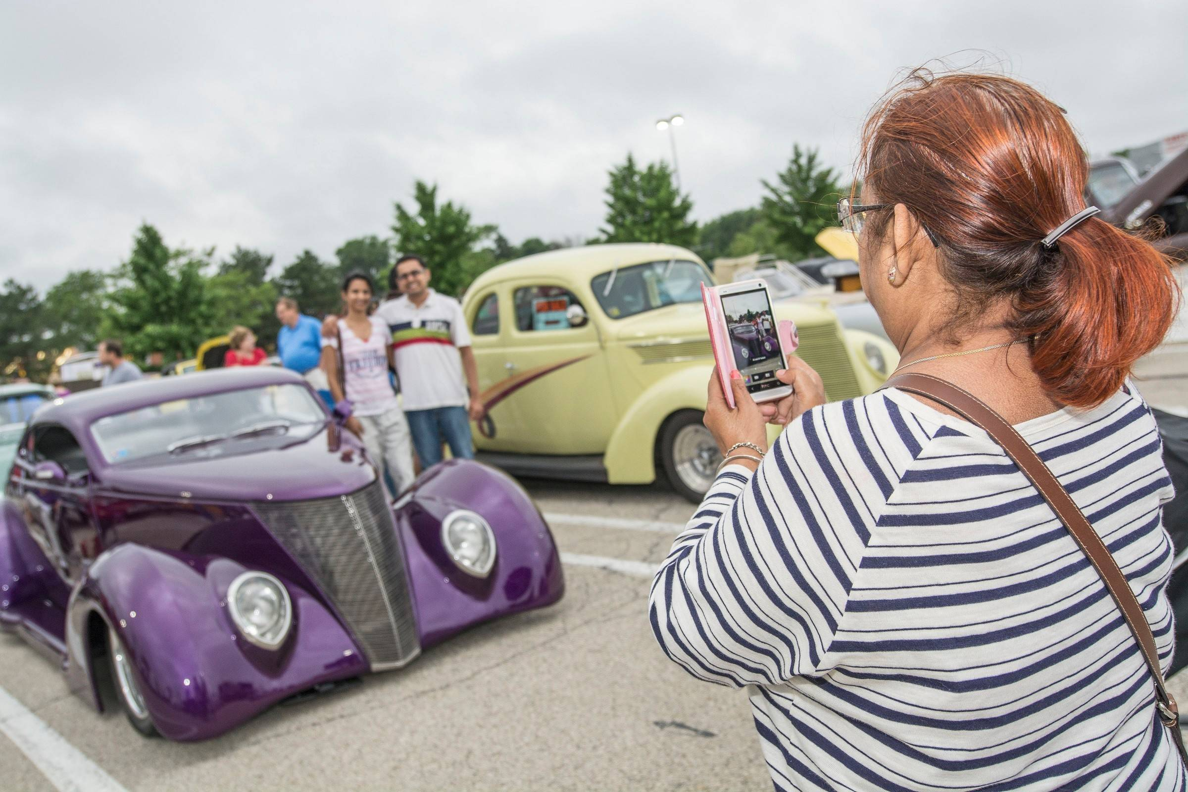 Many photo opportunities could be found among the autos at Randhurst Village's first cruise night.