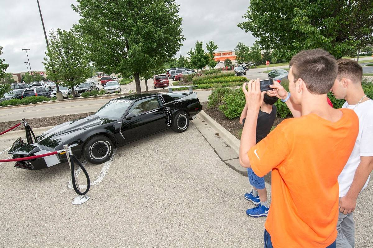 "The Volo Auto Museum brought out its KITT from ""Knight Rider."""