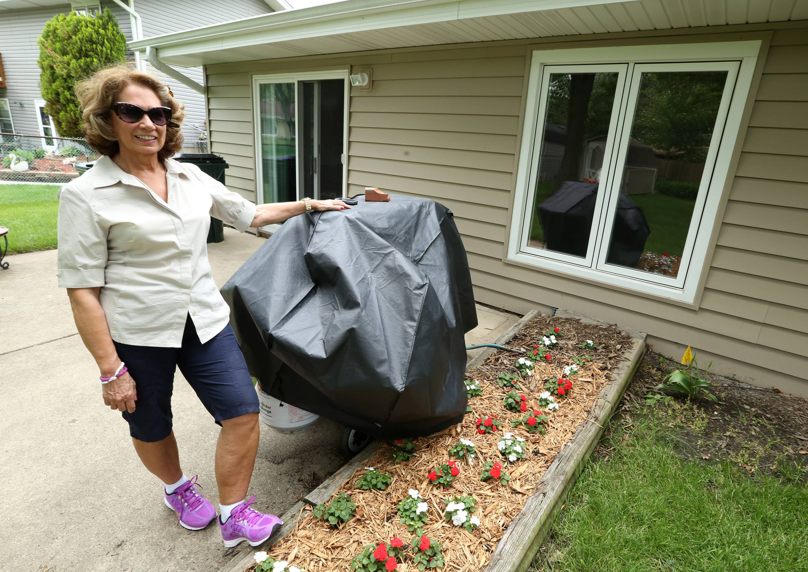 Nancy McCorvie of Hoffman Estates, winner of a GYSO prize package. McCorvie said she really looks forward to having her back porch area improved.