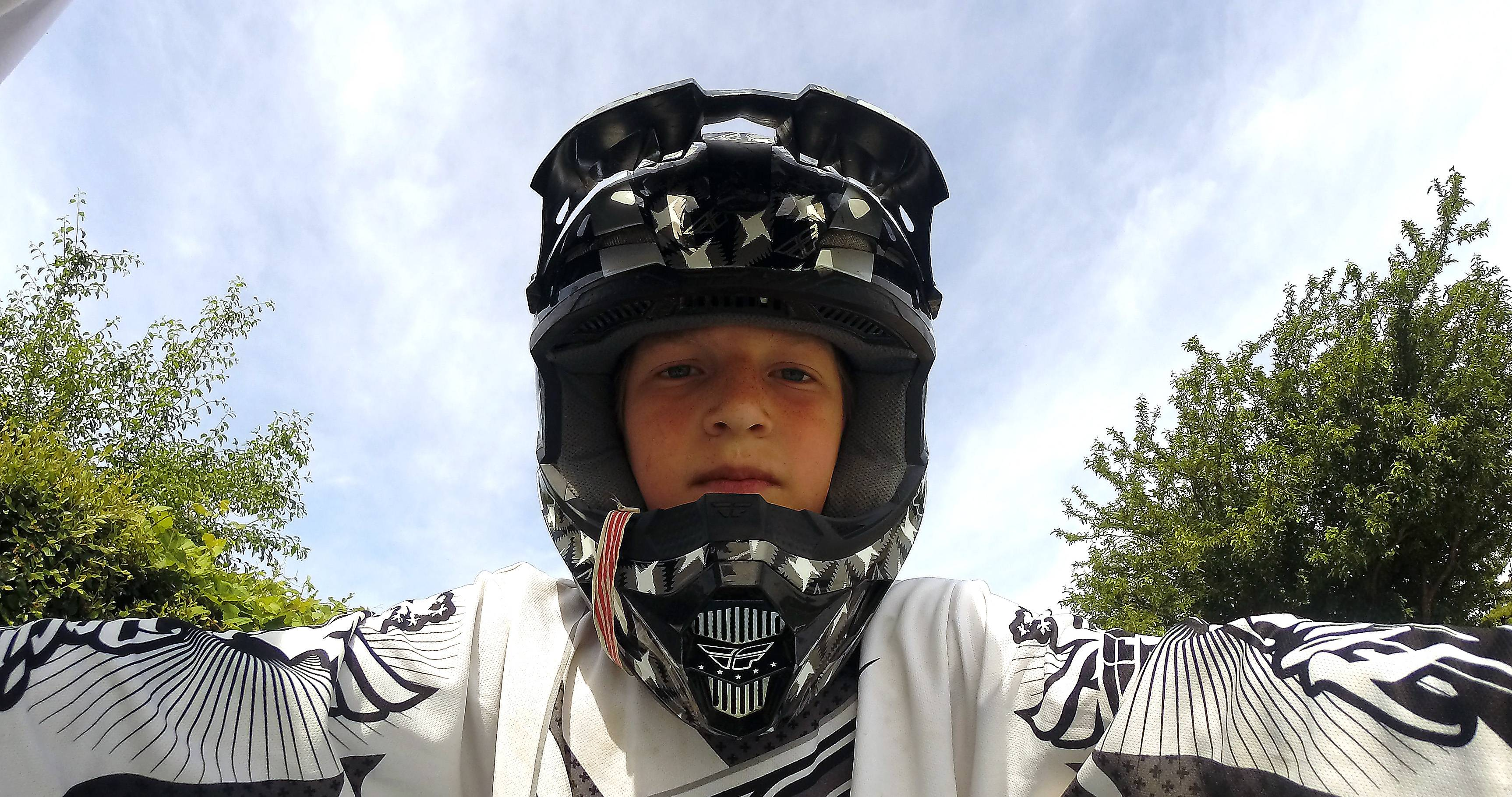 Luke Barton of Belvidere gets ready to roll at the BMX track at the Elgin Sports Complex on a recent Saturday. New track operators Jim and Jenna Barton of Belvidere took over in the fall.