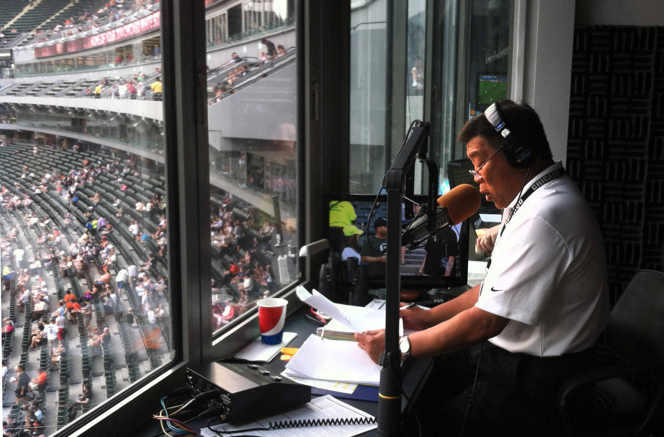White Sox public address announcer Gene Honda is a familiar fixture at U.S. Cellular Field and many other venues, such as Blackhawks games and the NCAA Final Four.