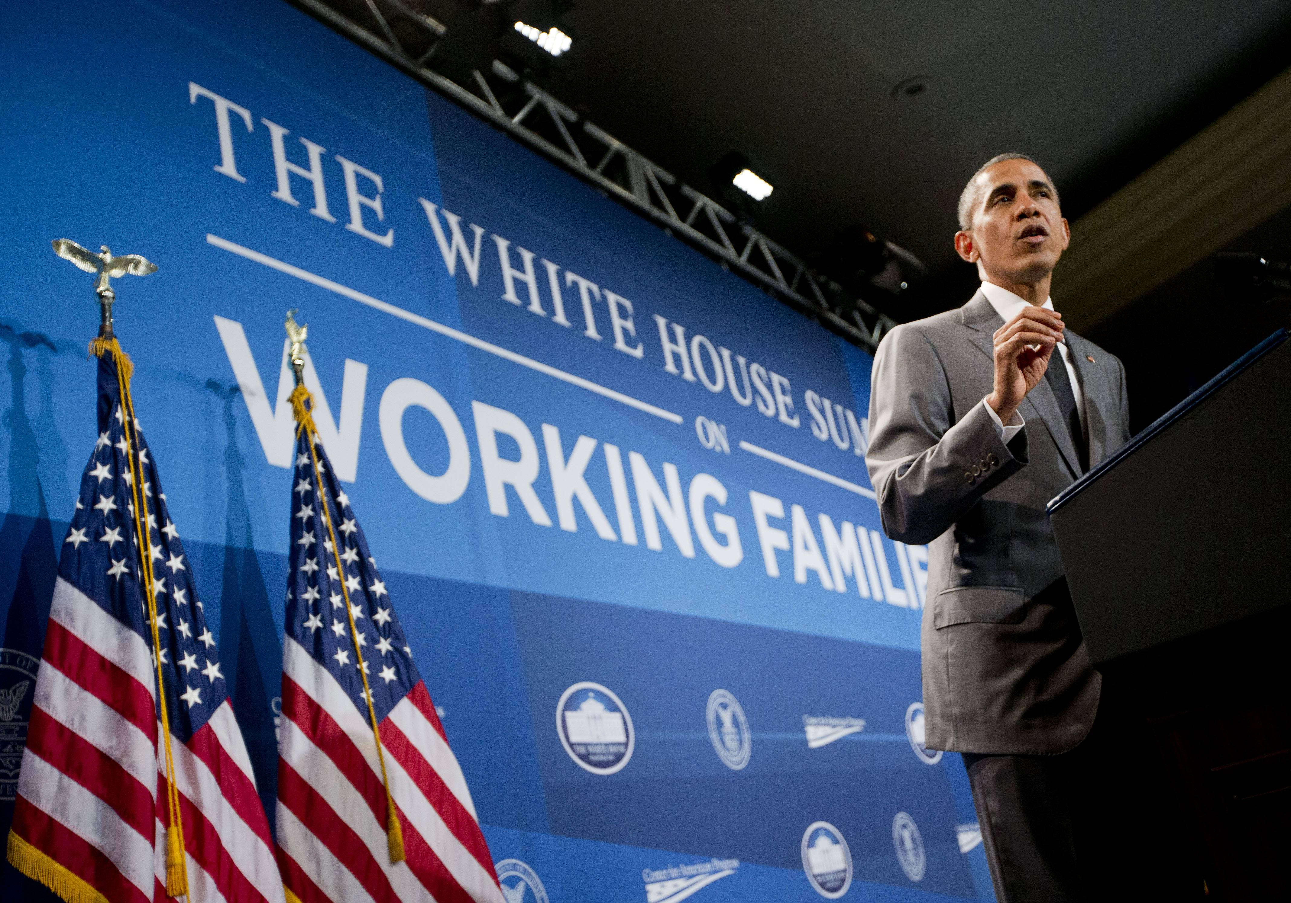 President Barack Obama, speaking at the White House Summit on Working Families Monday in Washington, encouraged more employers to adopt family-friendly policies, part of a broader effort to convince employers that providing more flexibility is good for business as well as workers.