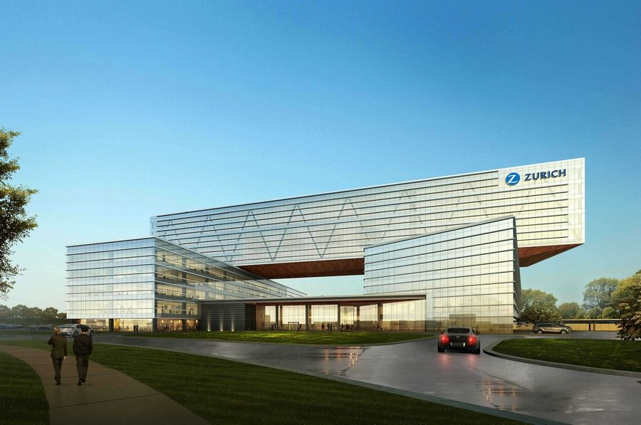 This is a rendering of the new Zurich Insurance North American headquarters. Schaumburg officials in February gave final approval to the proposed new Zurich headquarters on the Motorola Solutions campus.
