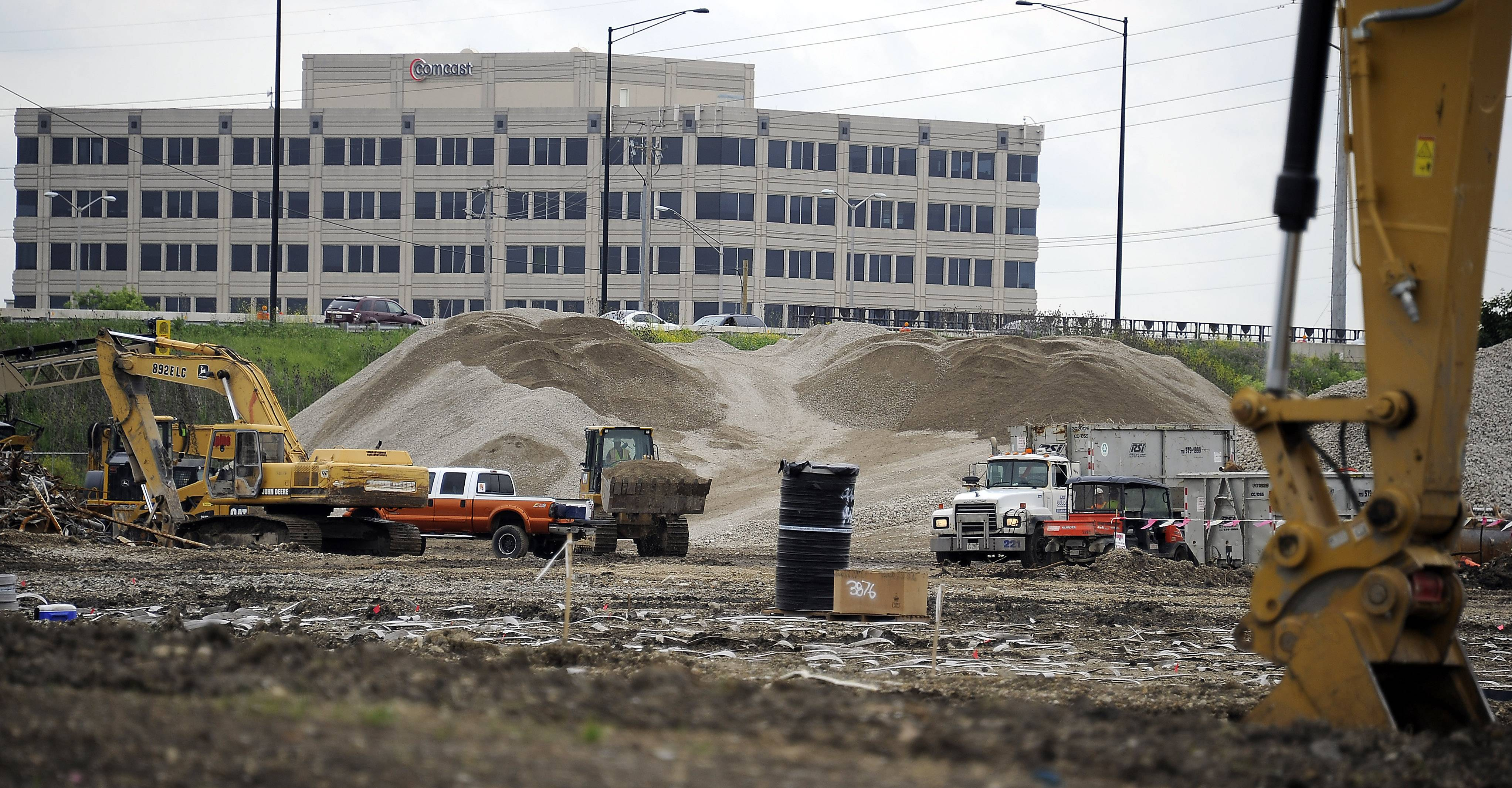 Construction is in full swing for the new $300 million Zurich North America headquarters.