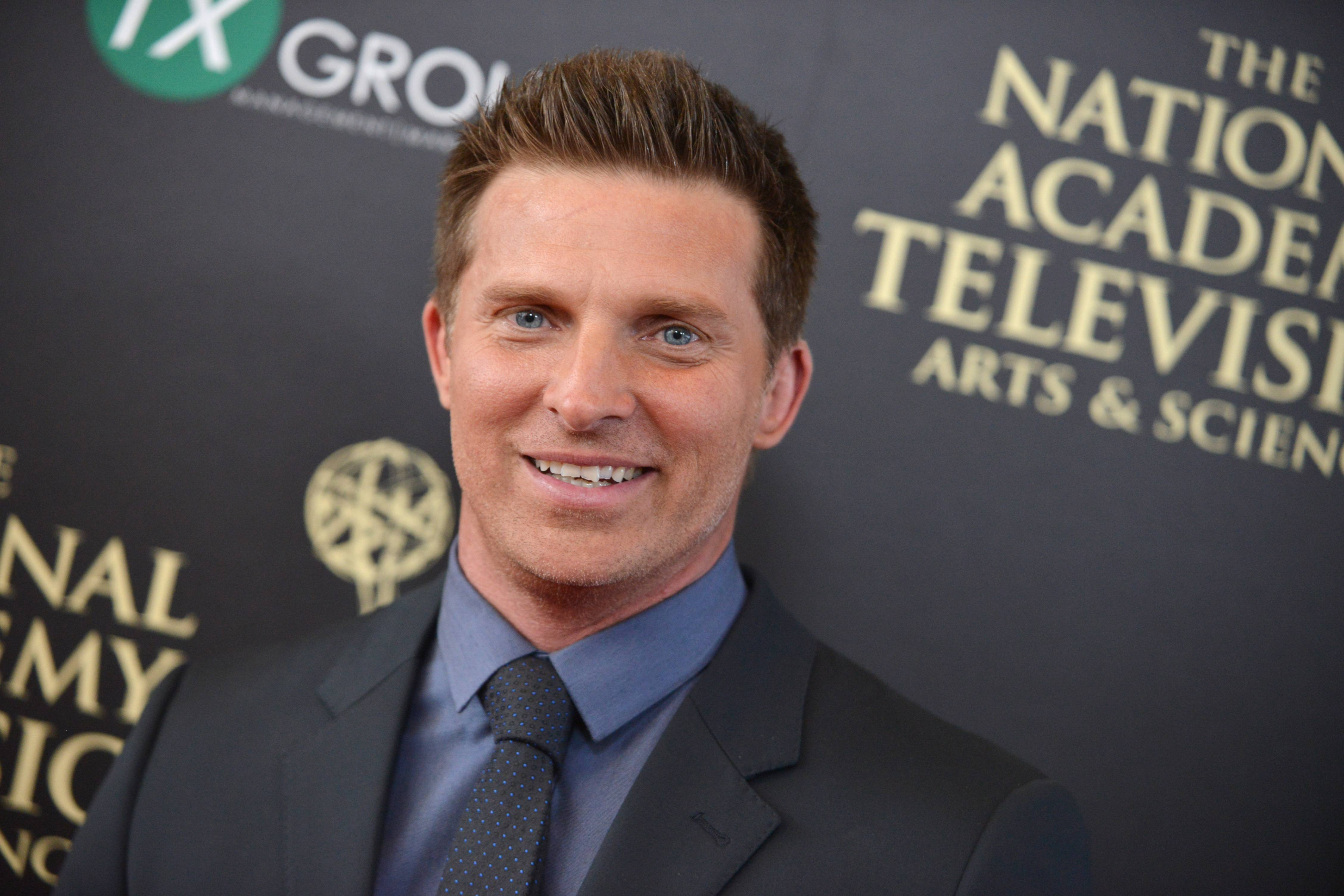 Steve Burton arrives at the 41st annual Daytime Emmy Awards at the Beverly Hilton Hotel on Sunday in Beverly Hills, Calif.