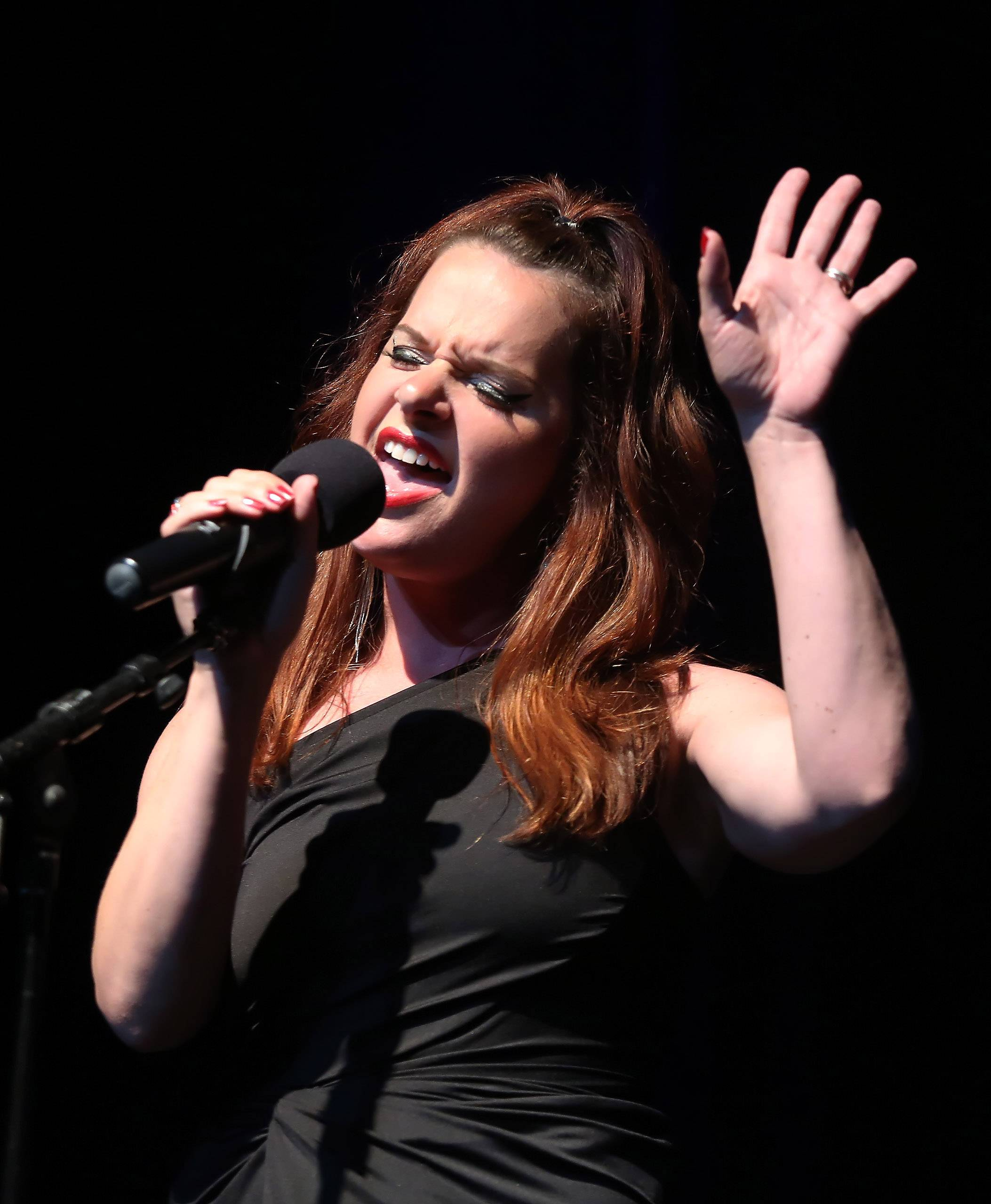 Rachel McPheeters of DeKalb sings during Sunday's performance of the top 20 finalists of the Suburban Chicago's Got Talent competition Sunday at the Prairie Center for the Arts in Schaumburg.