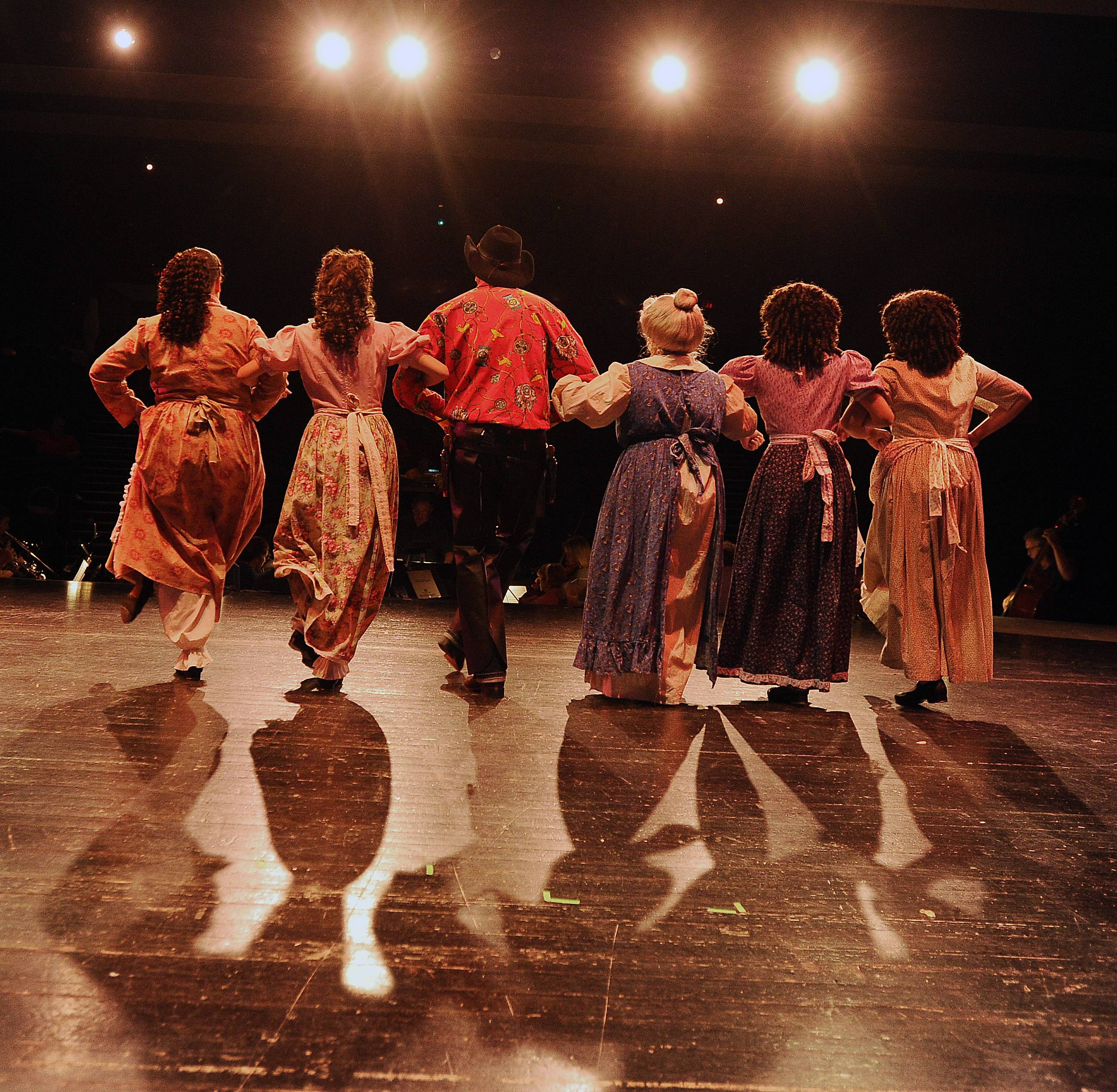 The cast from H.O.T.T. Productions is producing Oklahoma at the Prairie Center for the Arts in Schaumburg to raise money for families in need.