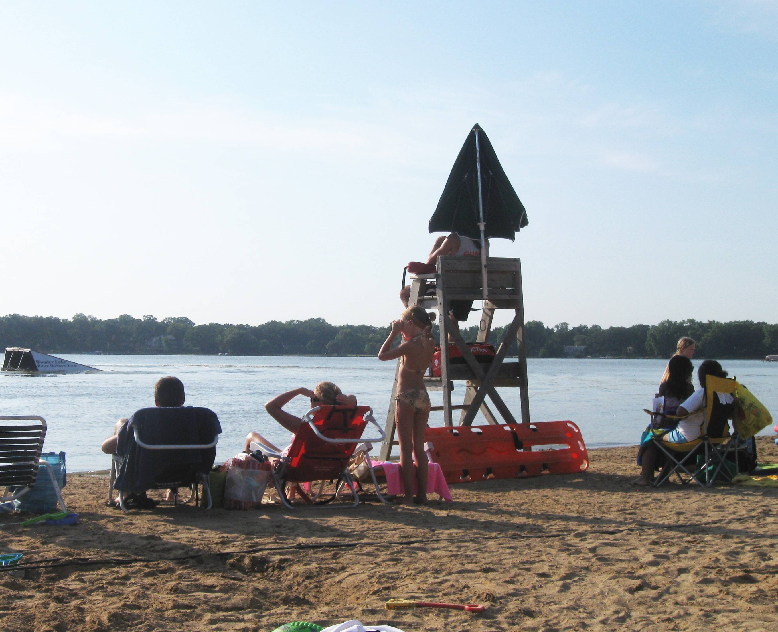 Showstopping stunts, on-water pyramids, and barefoot skiing by the Wonder Lake Water Ski Show Team are part of the fun at the free community picnic June 28 at Diamond Lake Beach in Mundelein.