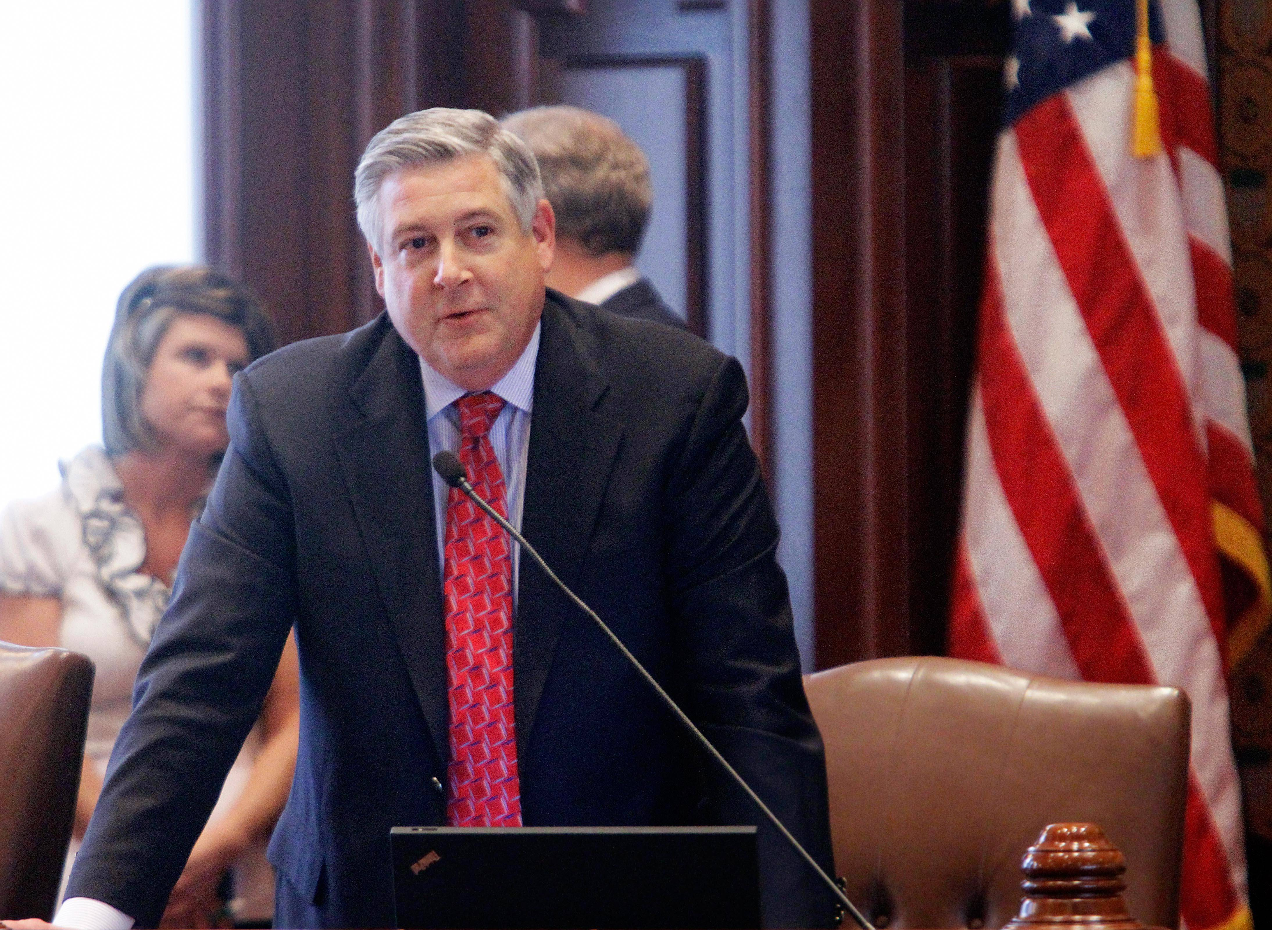 Sen. Kirk Dillard, shown on the Senate floor, could be the new RTA chairman.