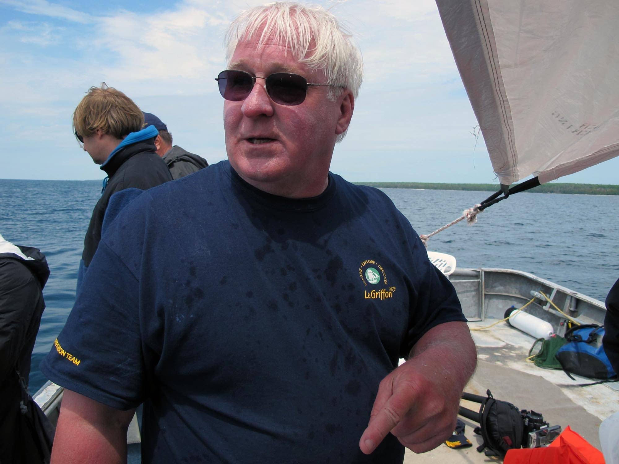 Explorer Steve Libert says a debris field at the bottom of Lake Michigan may be the remains of the long-lost Griffin, a vessel commanded by a 17th-century French explorer.