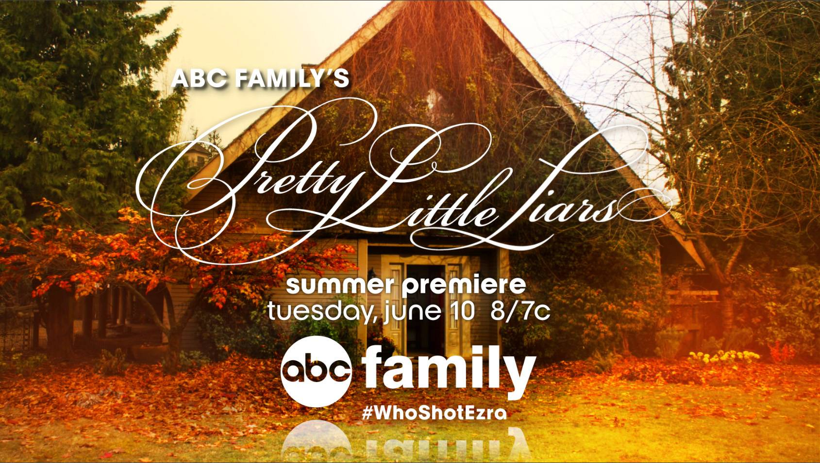 "A promo for the series ""Pretty Little Liars"" features a hashtag #WhoShotEzra, promoting a recent storyline. According to Social Guide, ""PLL,"" as it's known to fans, consistently ranks as one of the most Tweeted-about shows while new episodes are airing."