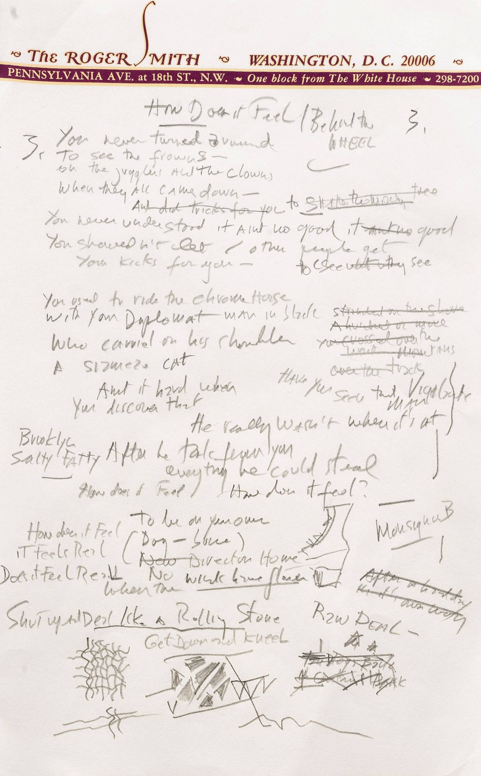 "A working draft of Bob Dylan's ""Like a Rolling Stone"" fetched $2 million in an auction Tuesday. Sotheby's, the auction house, said it is ""the only known surviving draft of the final lyrics for this transformative rock anthem."""