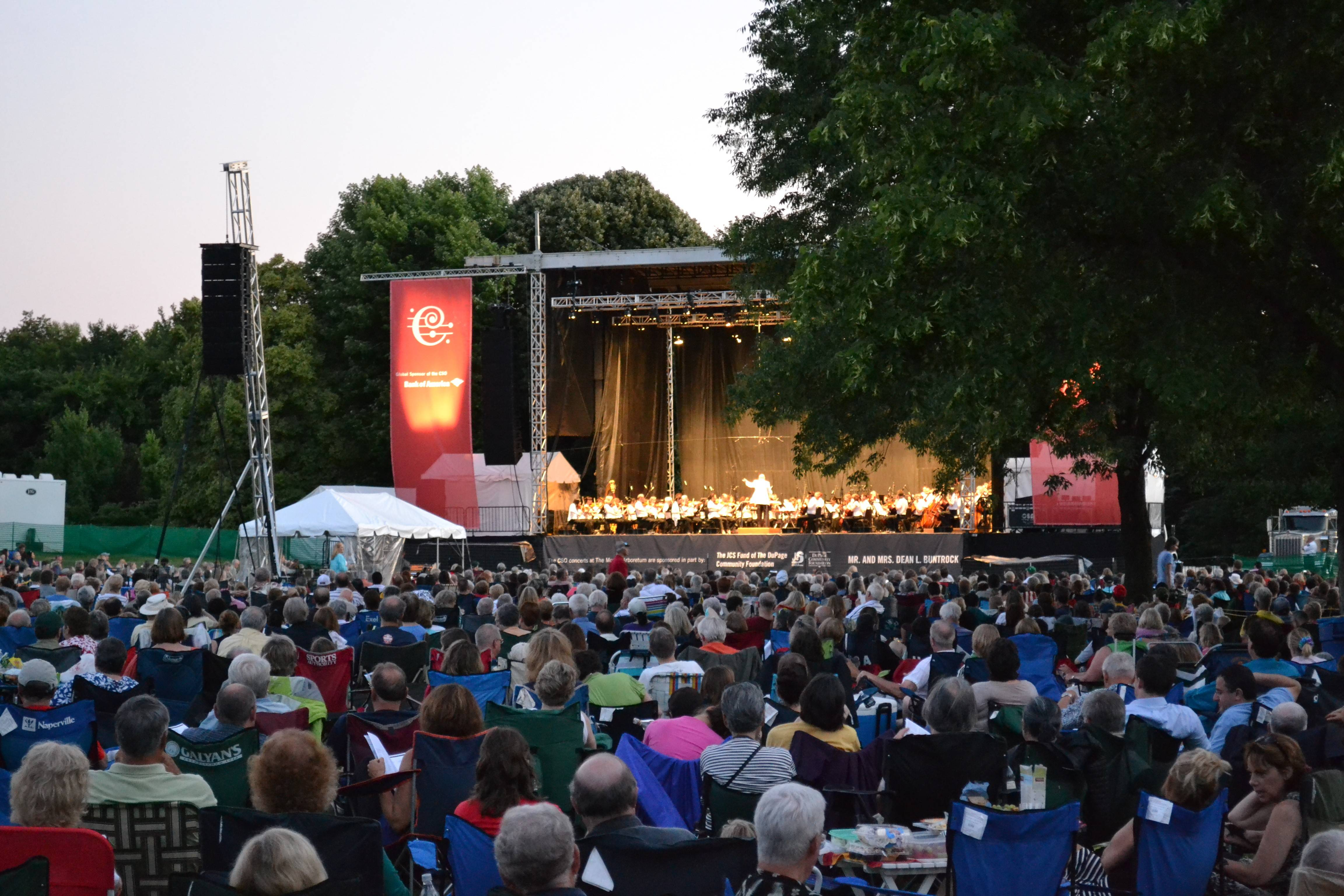 Large crowds are expected this week for three performances of the Chicago Symphony Orchestra at the Morton Arboretum in Lisle.