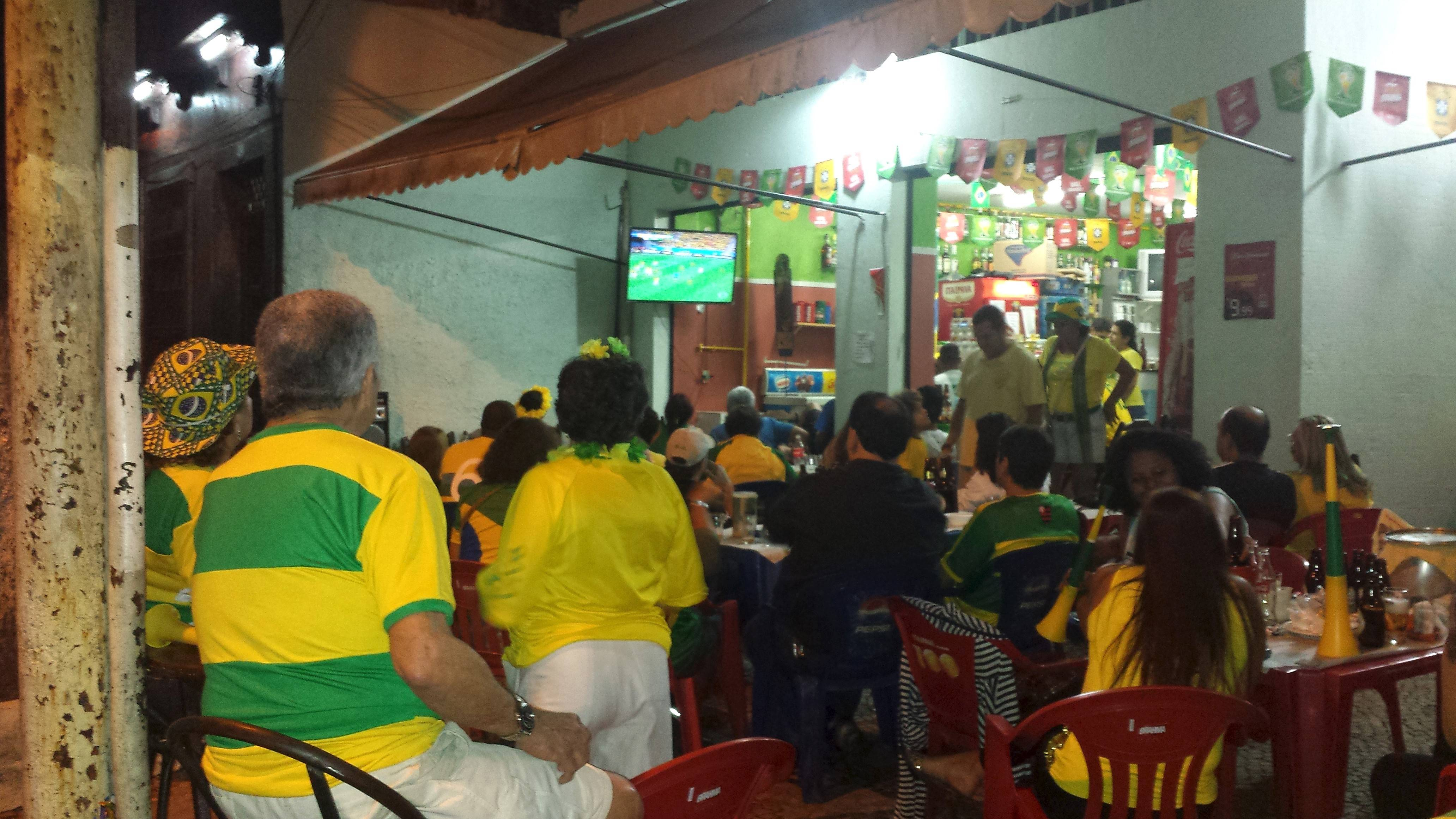 With Brazilian fans everywhere, this was the view as Mike Taylor caught some of the local flavor while watching a World Cup game from a local bar in Brazil.