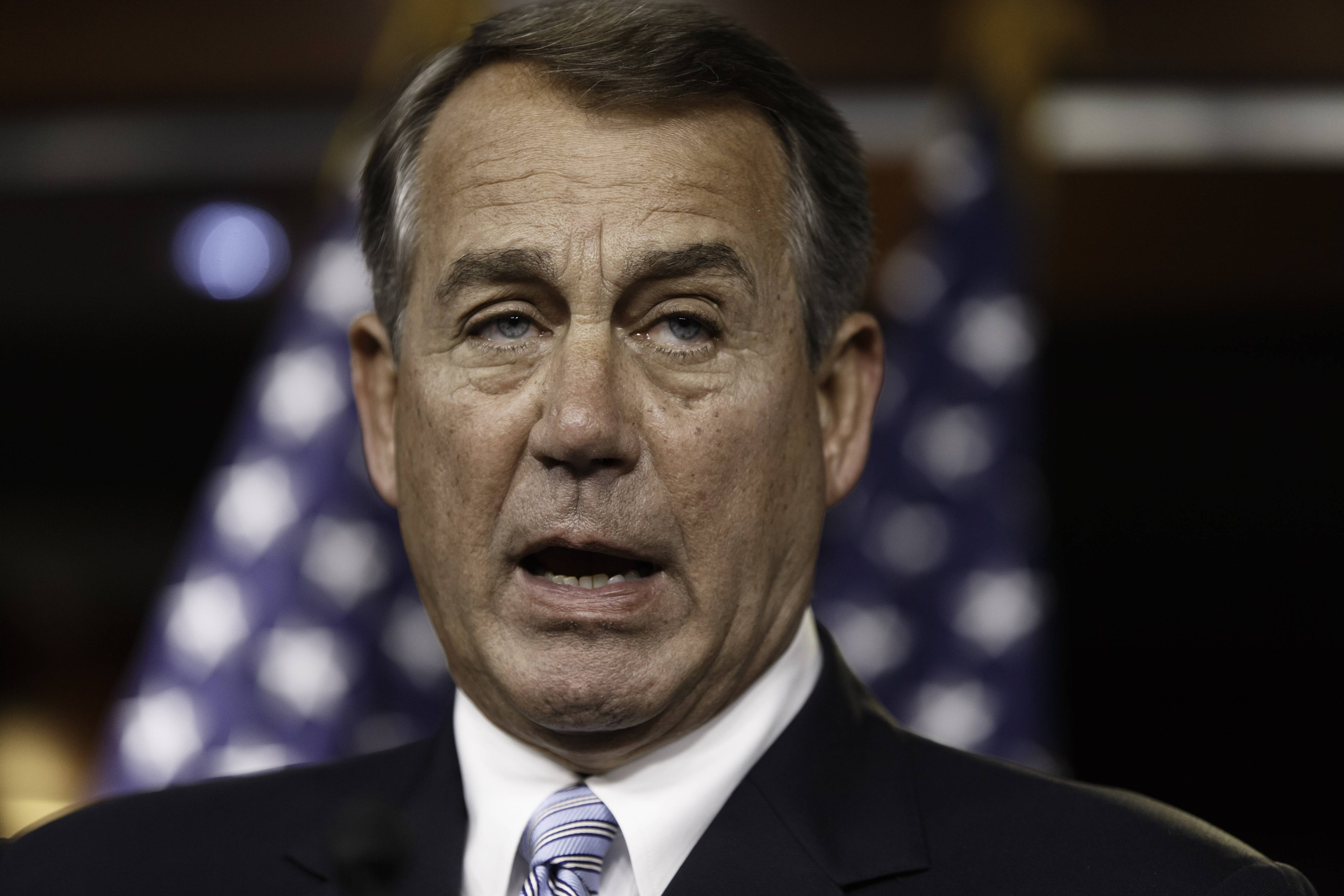 Speaker of the House John Boehner said Wednesday that the Republican-controlled House will file an election-year lawsuit accusing President Barack Obama of failing to carry out the laws passed by Congress. He provided no details of the specific claims to be made in the suit.
