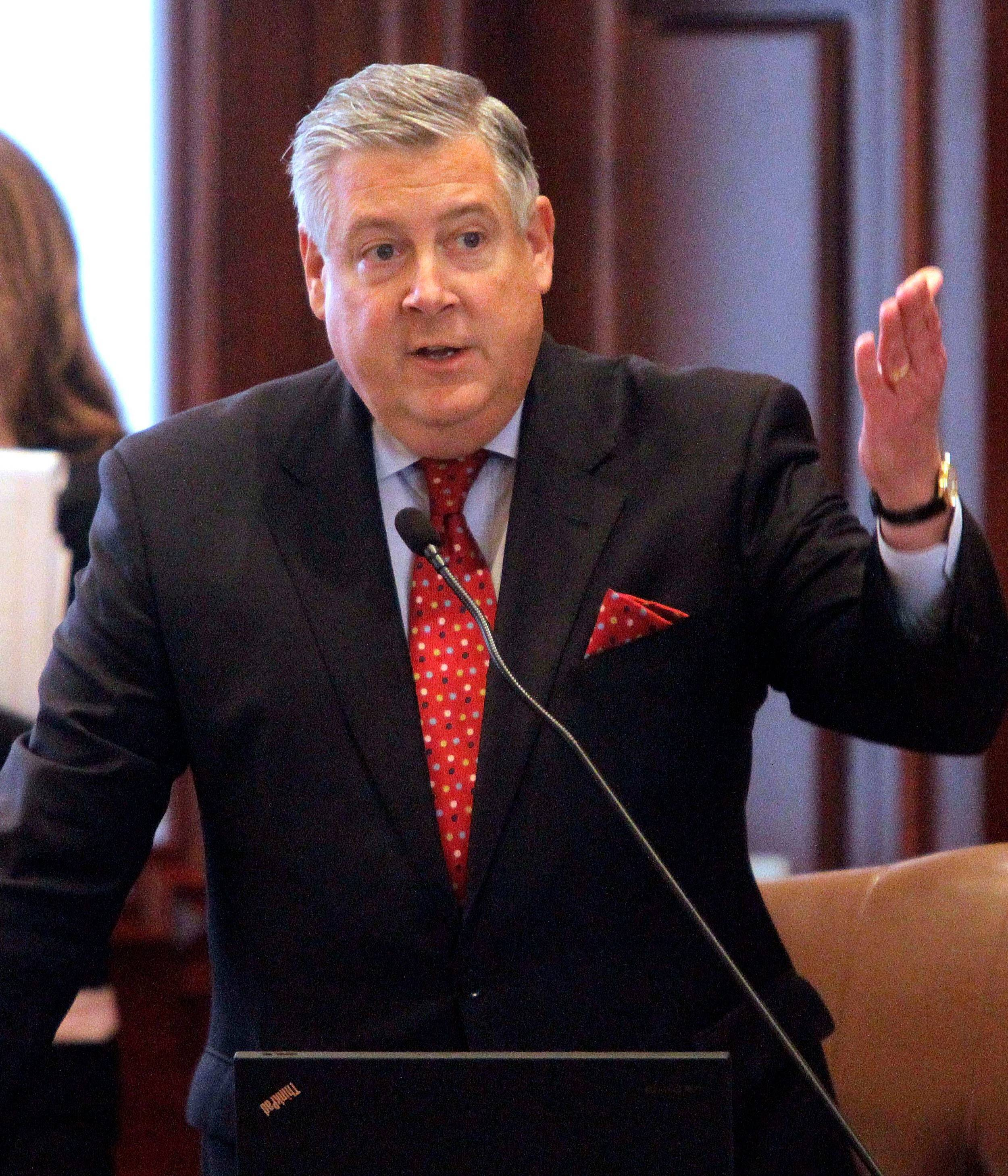 Associated Press Sen. Kirk Dillard, shown on the Senate floor, is the new RTA chairman.