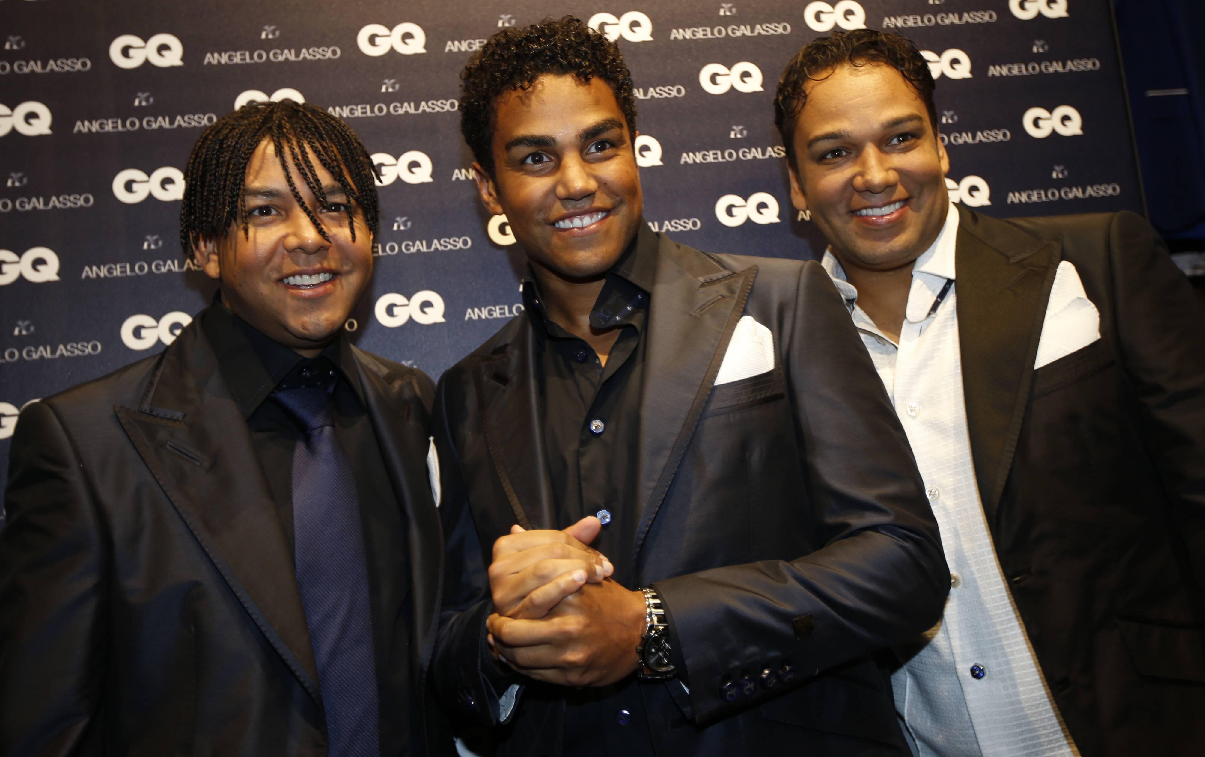 3T group members from left, Taj, TJ and Taryll, nephews of the late Michael Jackson, say they are ready to take up the pop superstar's legacy, ending a 15-year hiatus prolonged by his dispute with Sony and untimely death.